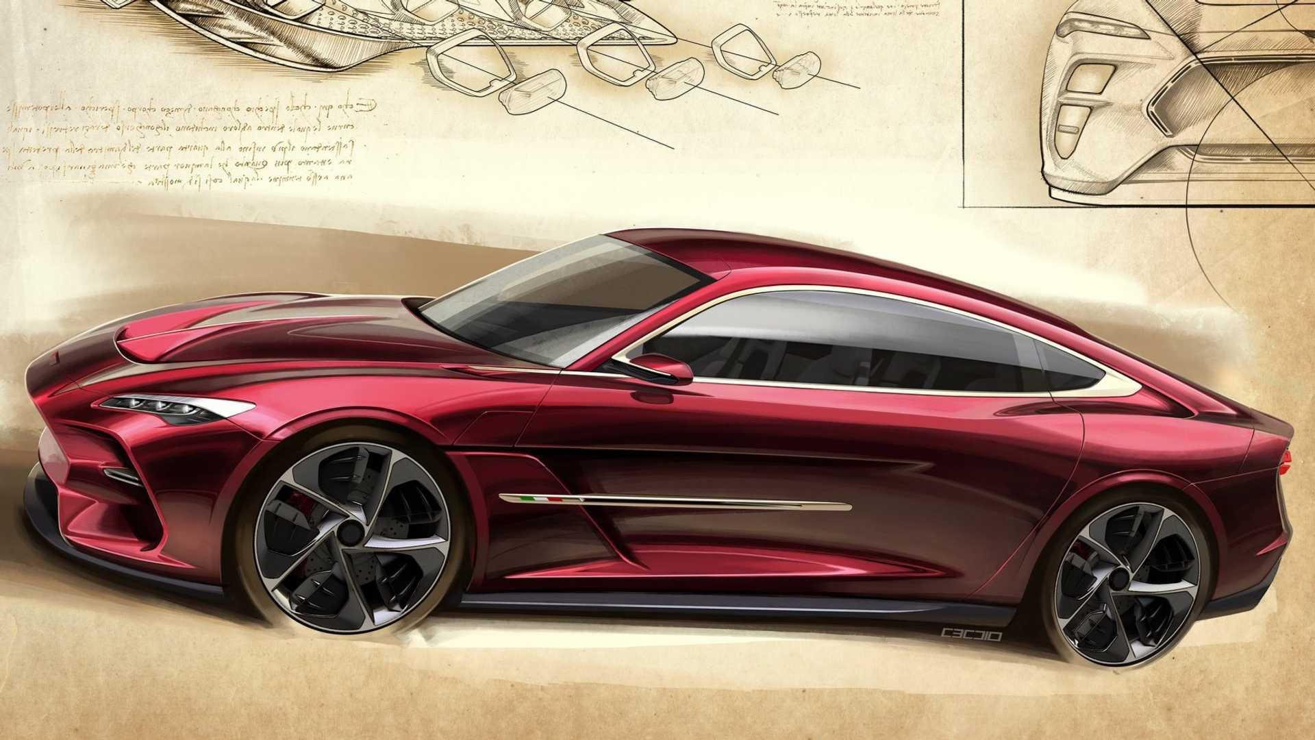 Italdesign sketch of concept car for 2019 Geneva motor show