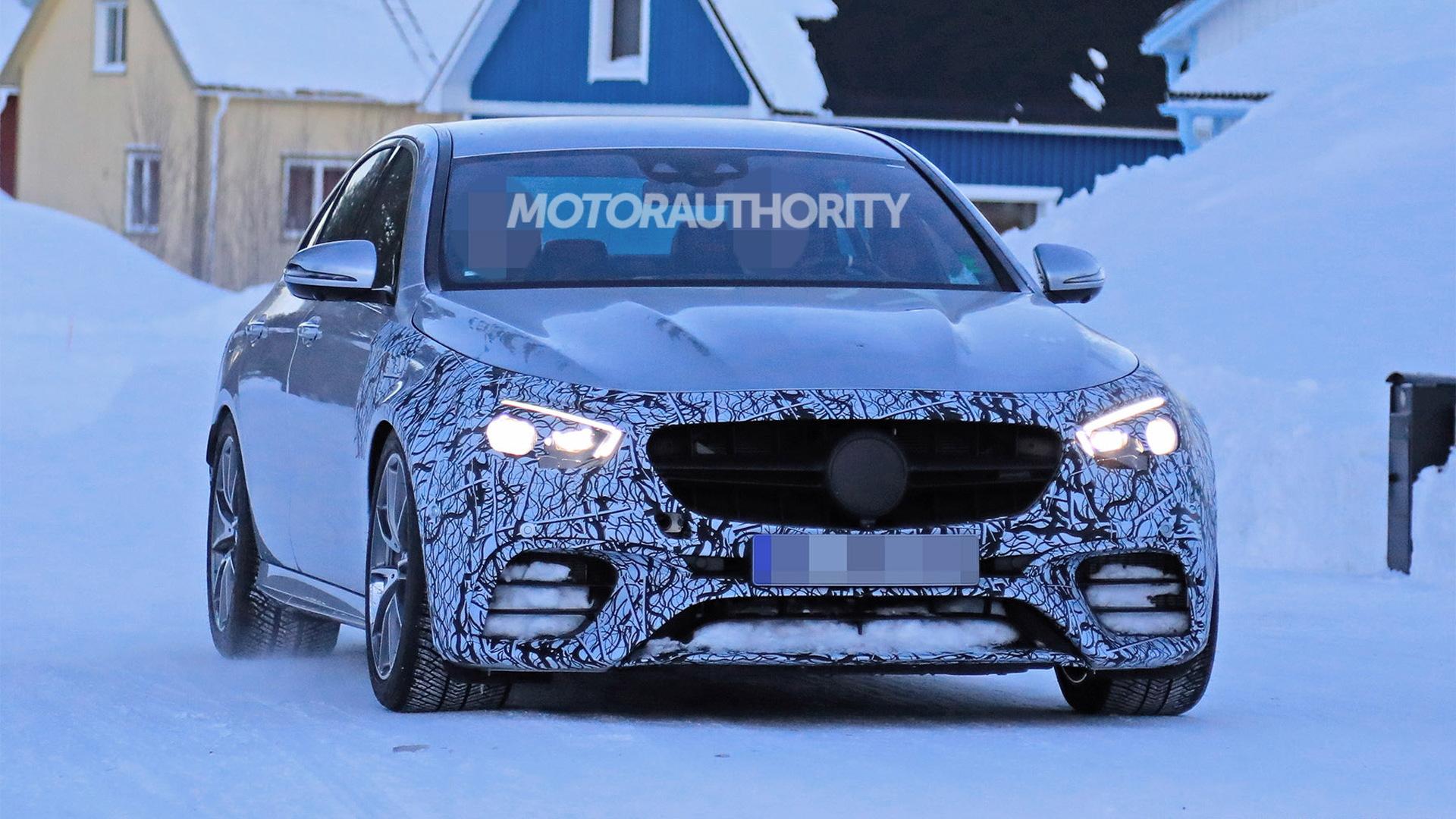 2021 Mercedes-AMG E63 facelift spy shots - Image via S. Baldauf/SB-Medien