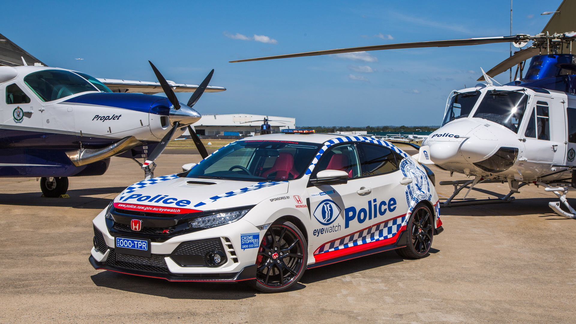 Honda Civic Type R police car for New South Wales, Australia