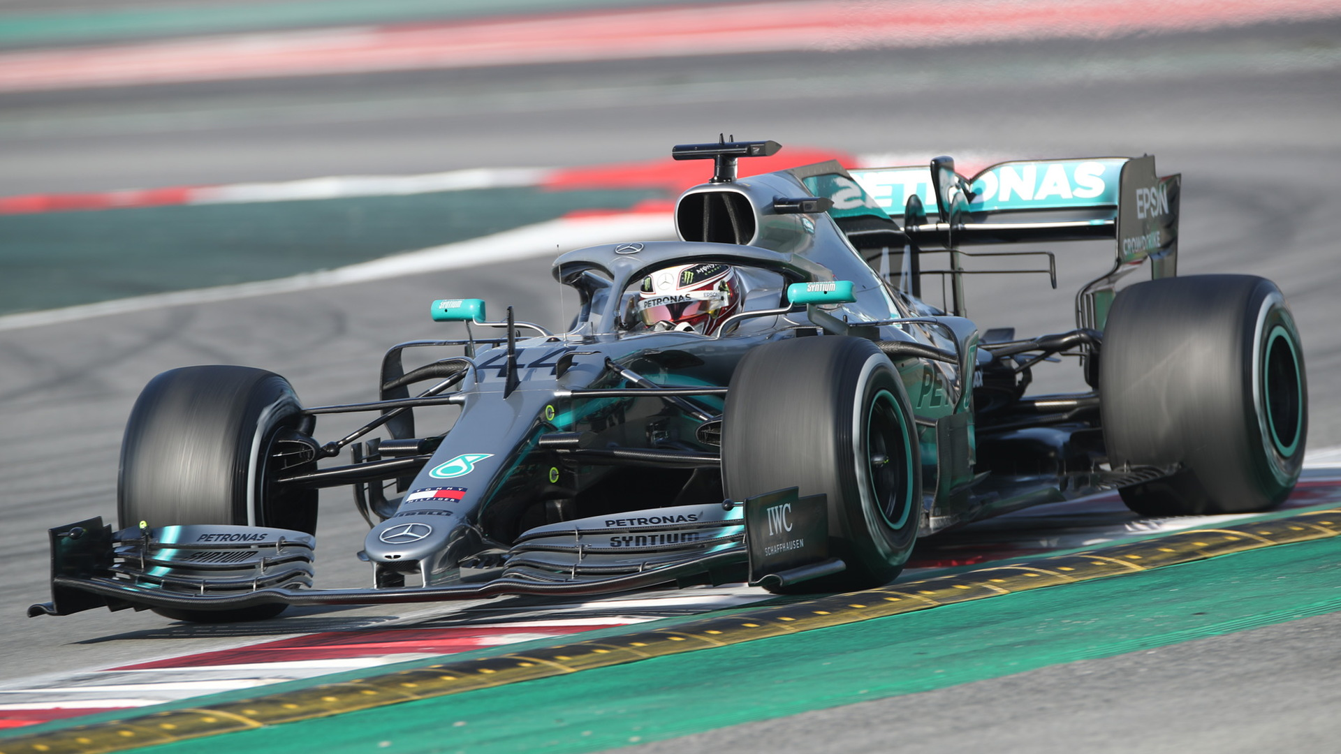 Mercedes-AMG's Lewis Hamilton during testing for the 2019 Formula 1 World Championship