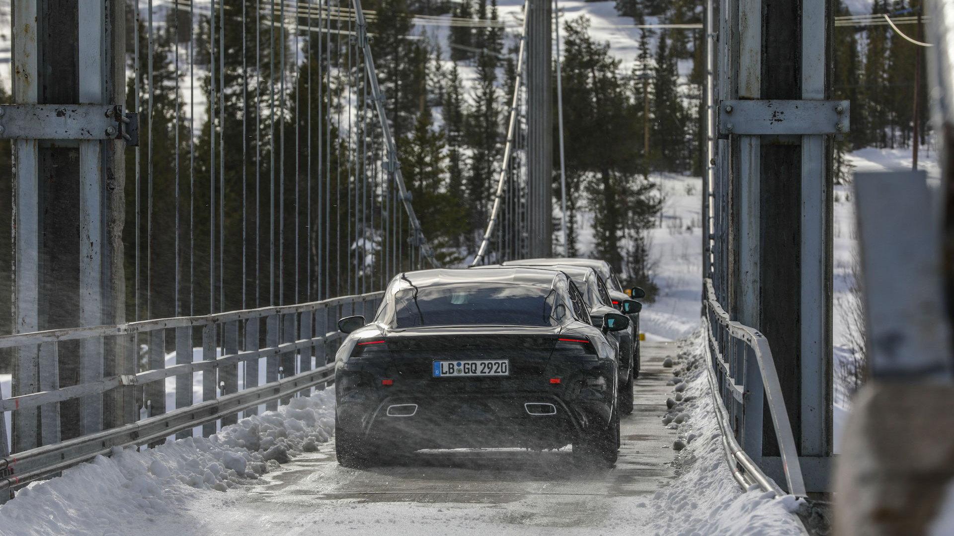 Porsche Taycan prototype testing