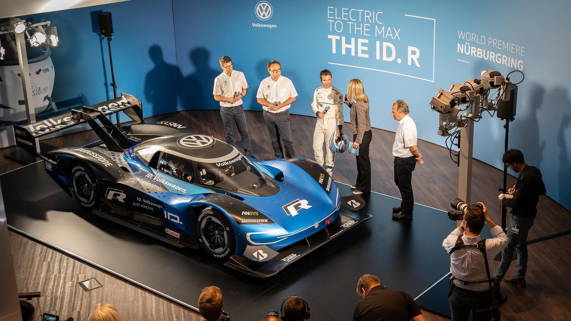 Volkswagen ID R Nürburgring electric race car