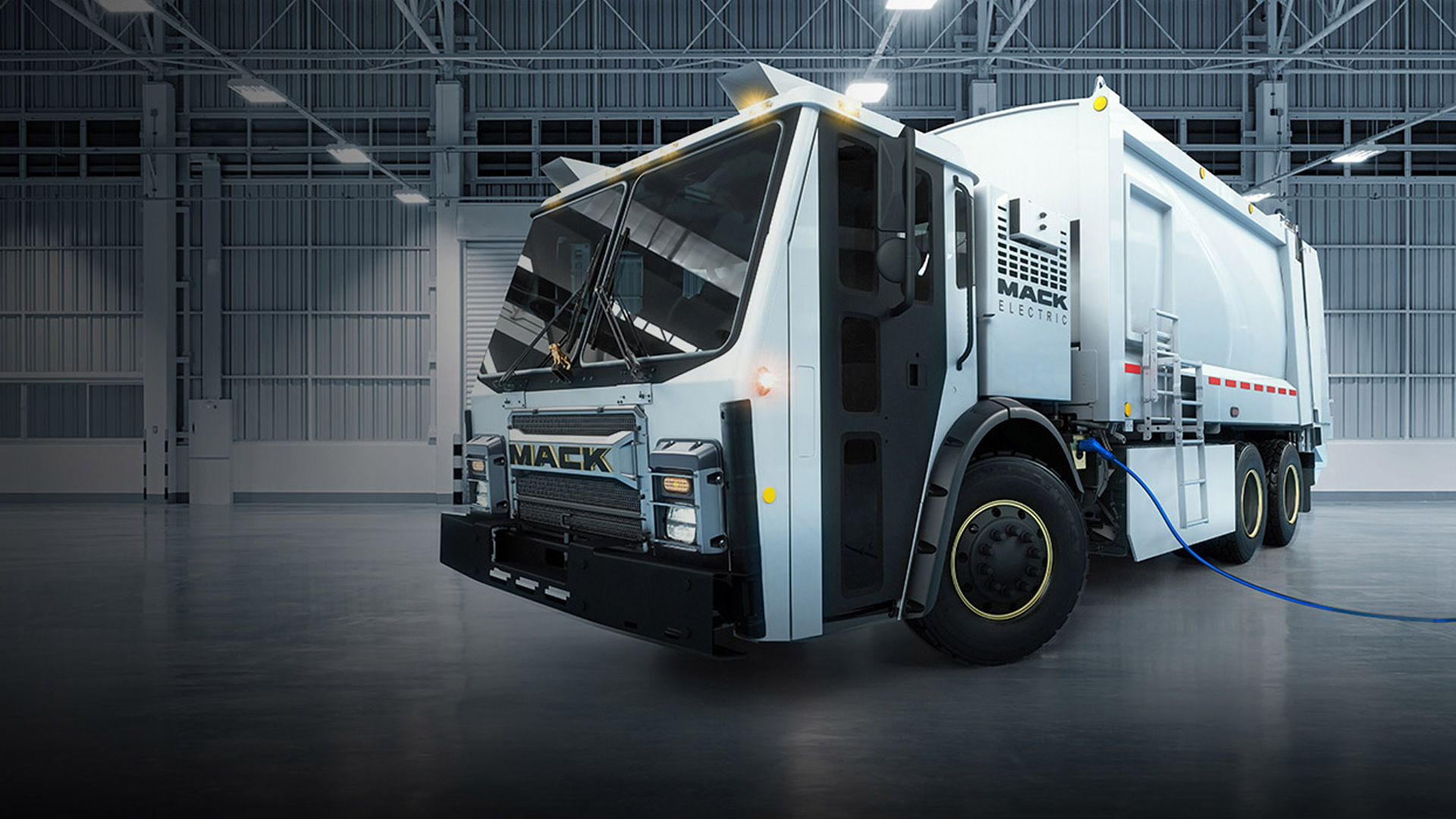 Mack Electric LR garbage truck