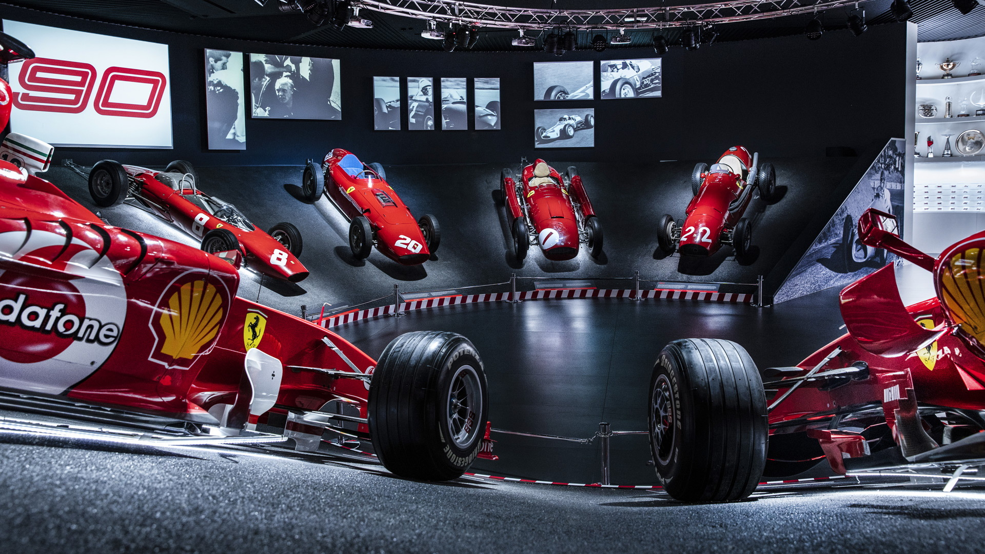 """90 Years Exhibition"" at the Ferrari Museum in Maranello, Italy"