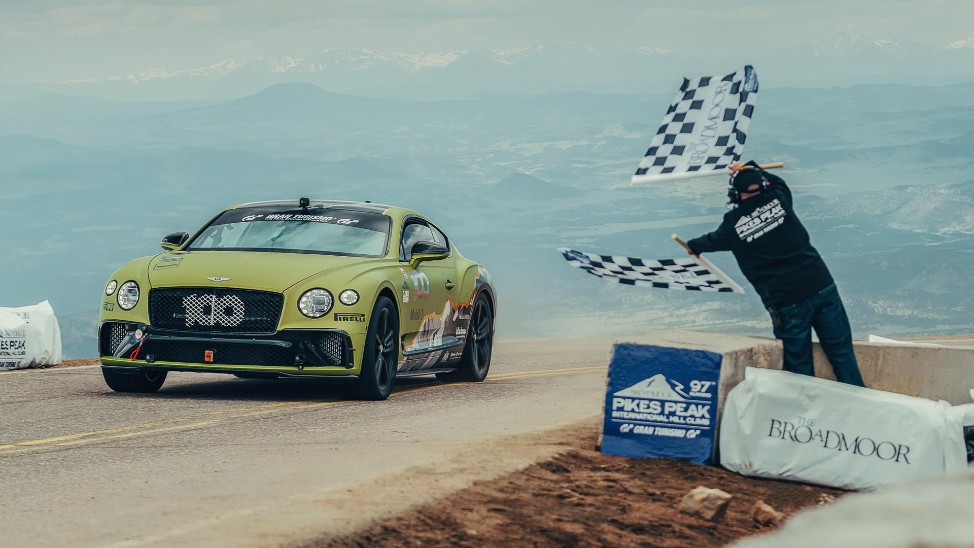 Bentley Continental GT driven by Rhys Millen at 2019 Pikes Peak International Hill Climb