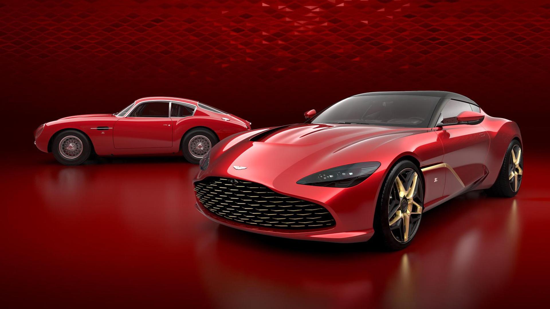 Teaser for Aston Martin DBS GT Zagato and DB4 GT Zagato continuation car