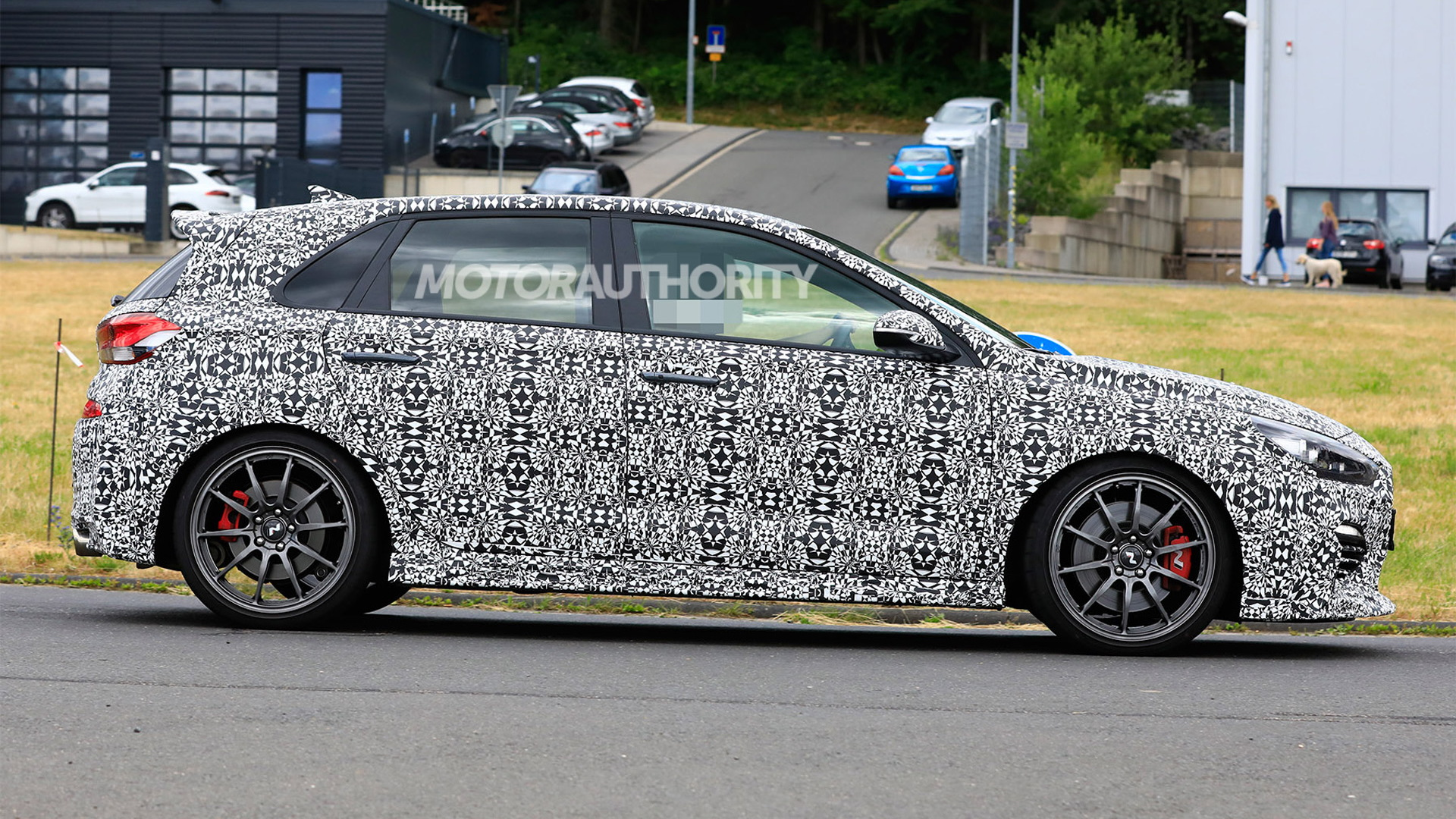 2020 Hyundai i30 N lightweight edition spy shots - Image via S. Baldauf/SB-Medien