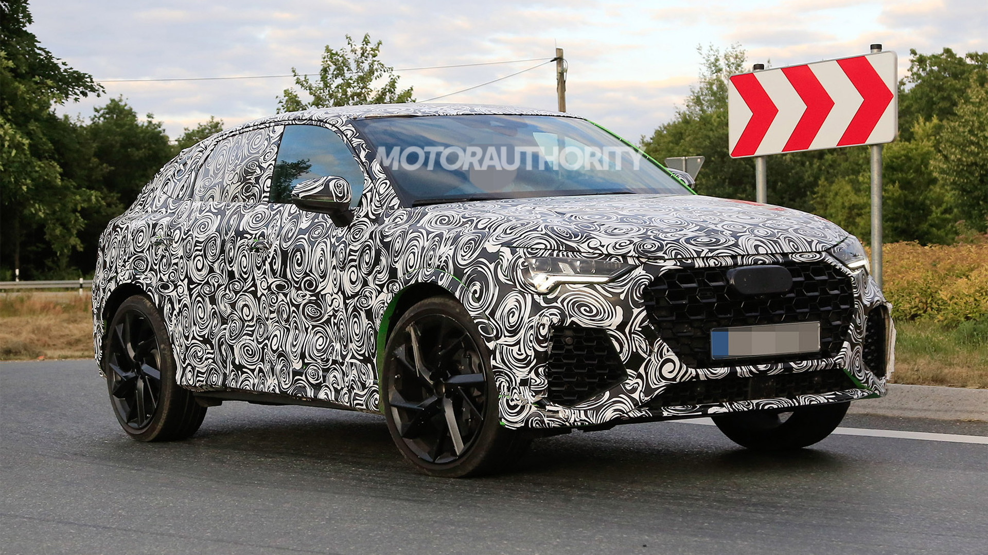2020 Audi RS Q3 Sportback spy shots - Photo credit: S. Baldauf/SB-Medien