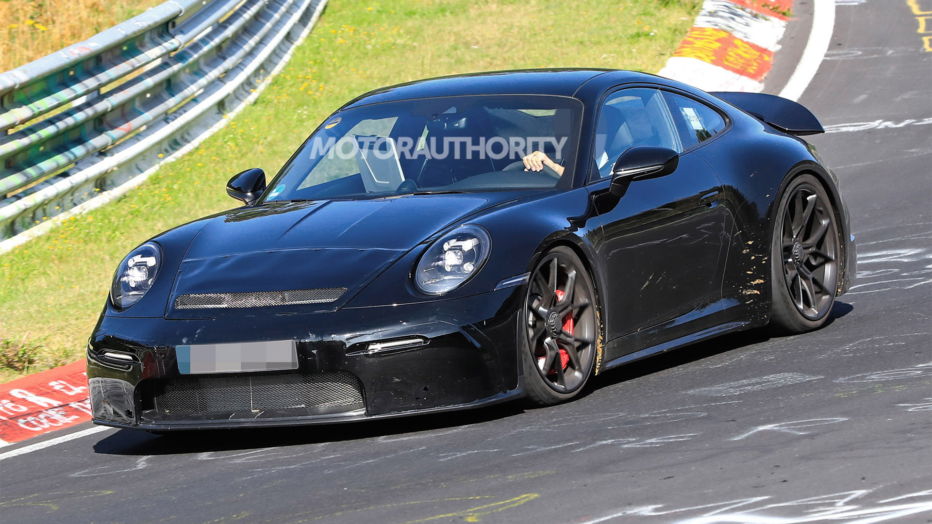 2021 Porsche 911 GT3 Touring spy shots - Photo credit: S. Baldauf/SB-Medien