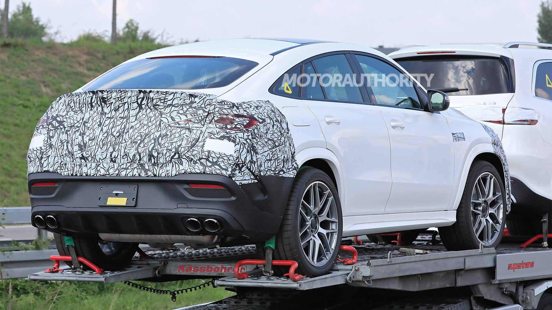2021 Mercedes-AMG GLE53 Coupe spy shots - Photo credit: S. Baldauf/SB-Medien