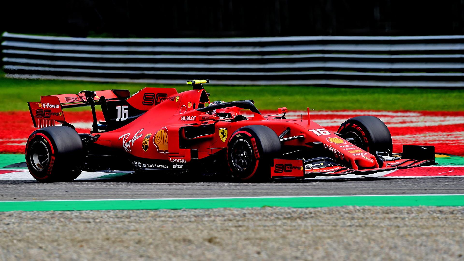 Ferrari's Charles Leclerc at the 2019 Formula One Italian Grand Prix