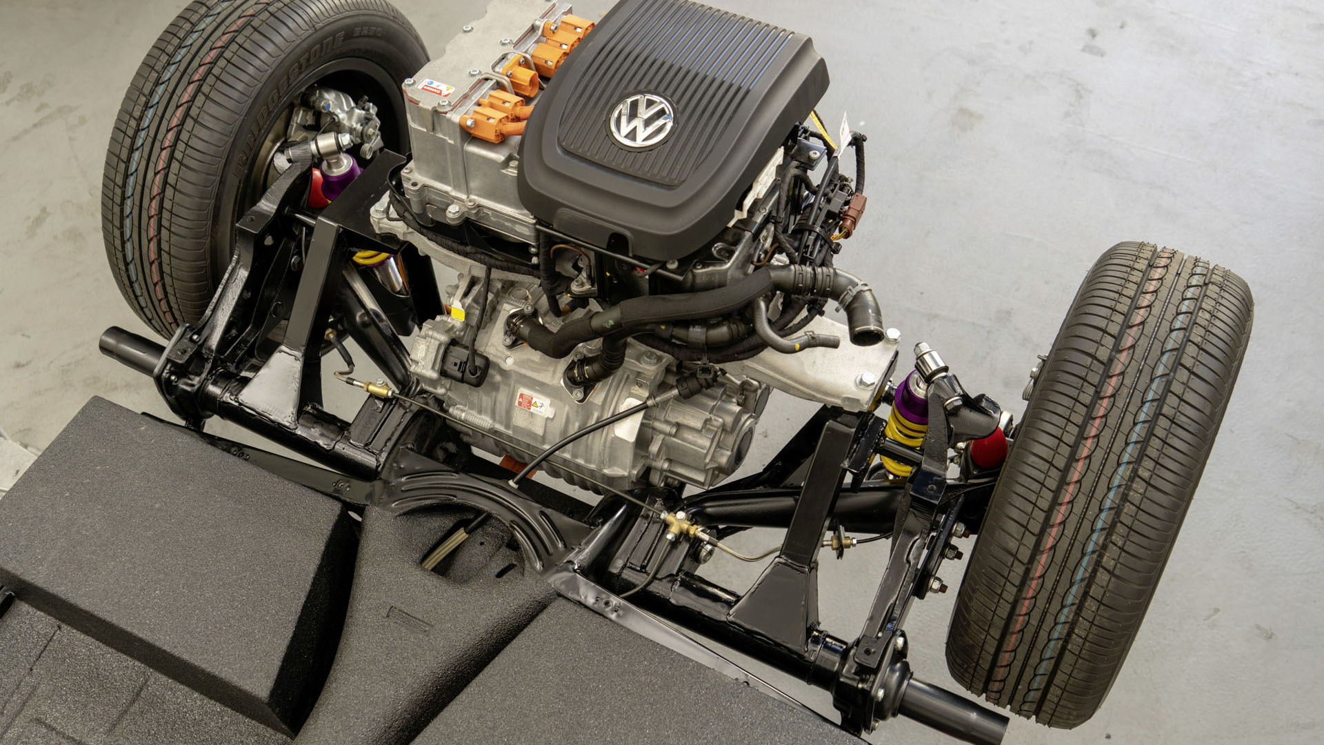 Old School VW Beetle Gets An Electric Upgrade