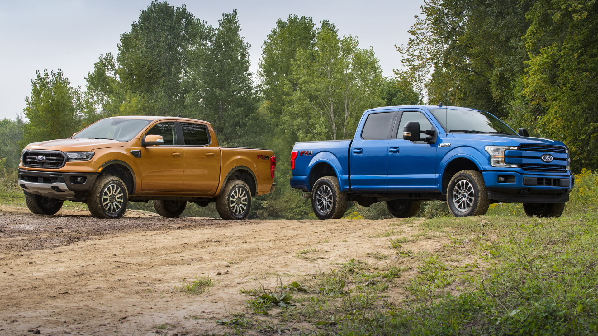 2019 Ford Ranger and F-150 with self-leveling kit