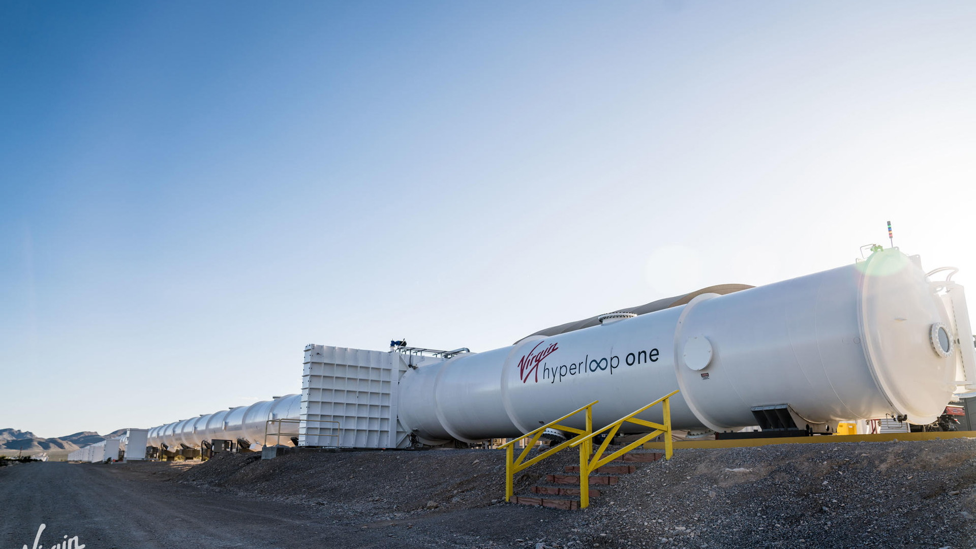 Virgin Hyperloop One test track in Nevada