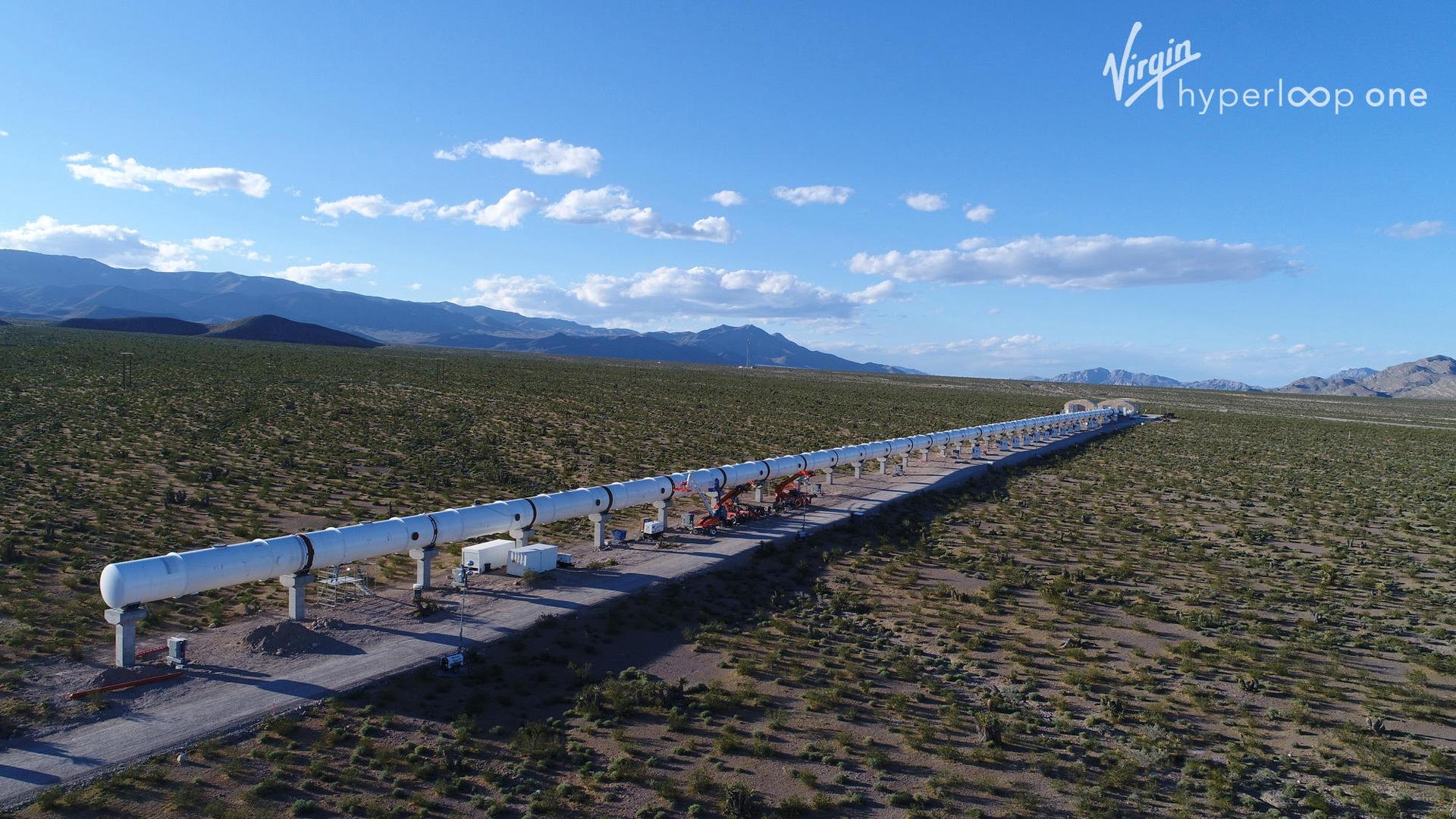 Virgin Hyperloop One test track in Nevada