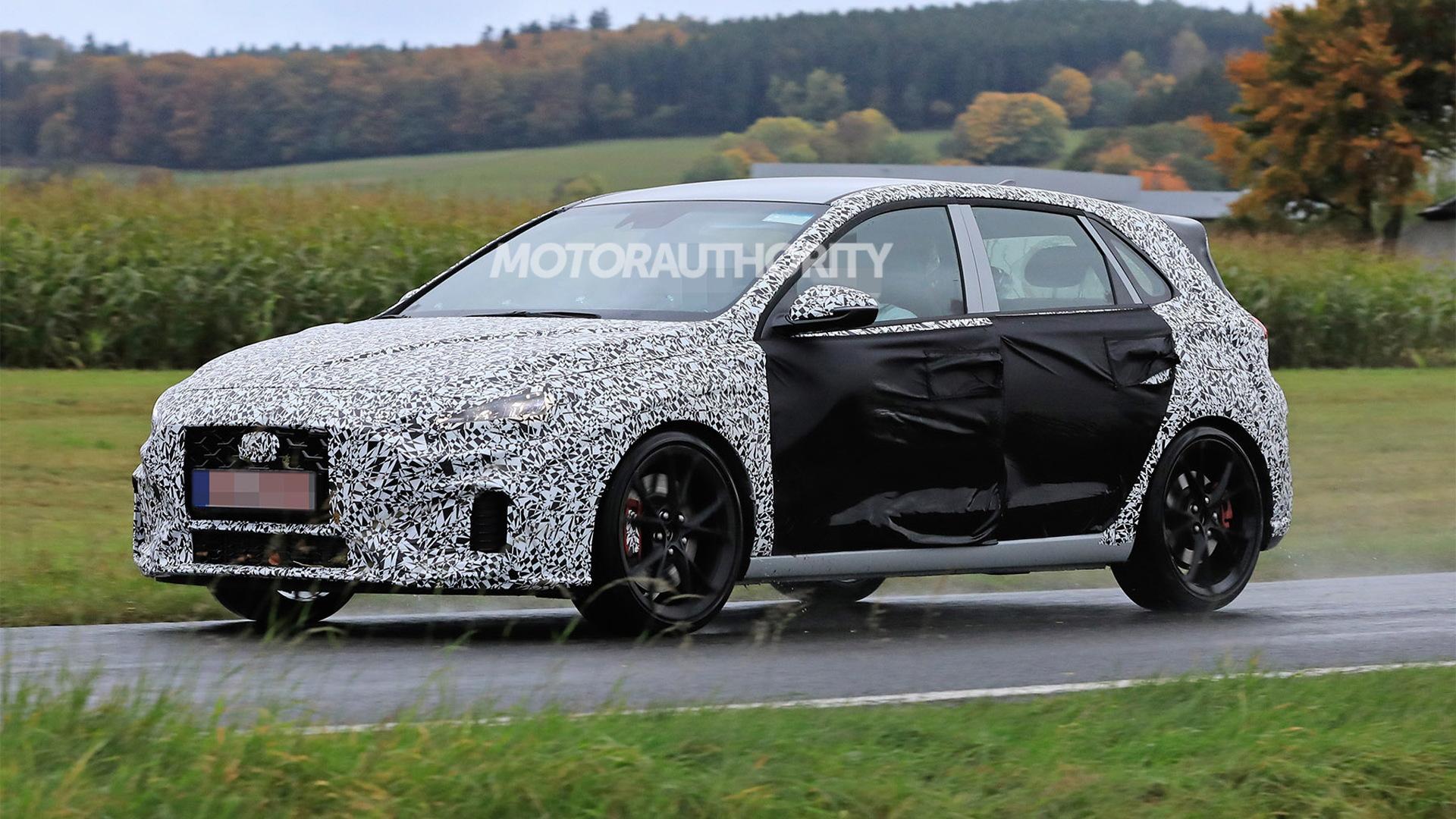2021 Hyundai i30 N facelift spy shots - Photo credit: S. Baldauf/SB-Medien