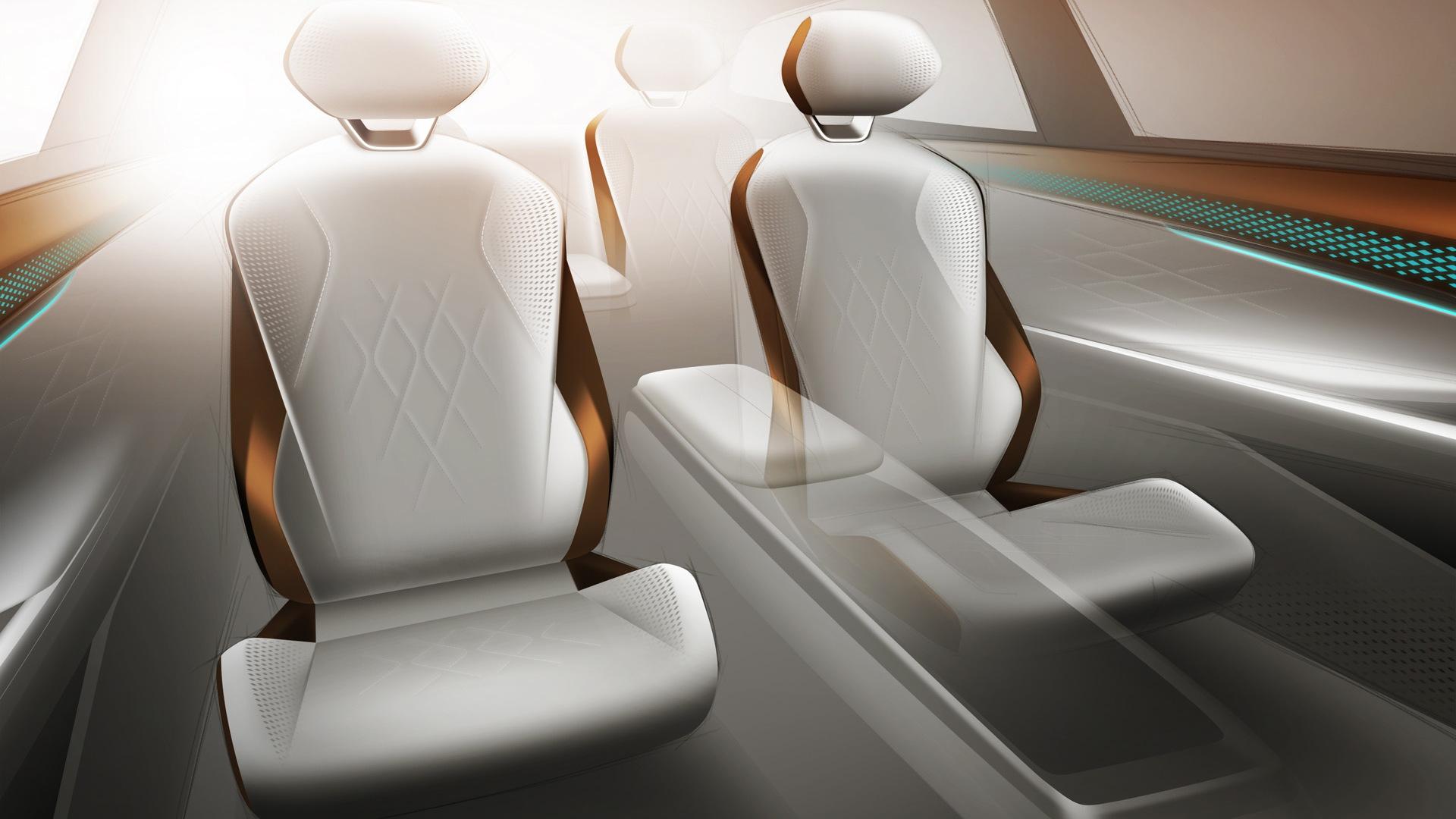 Teaser for Volkswagen ID Space Vizzion concept debuting on November 19, 2019