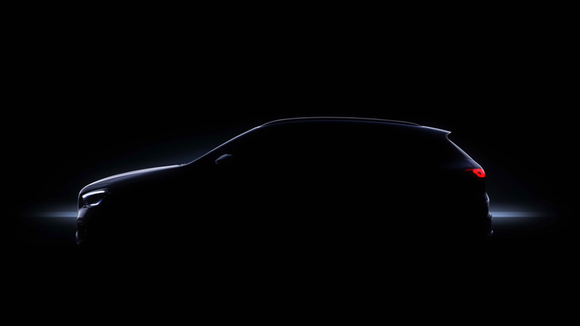 Teaser for 2021 Mercedes-Benz GLA debuting on December 11, 2019