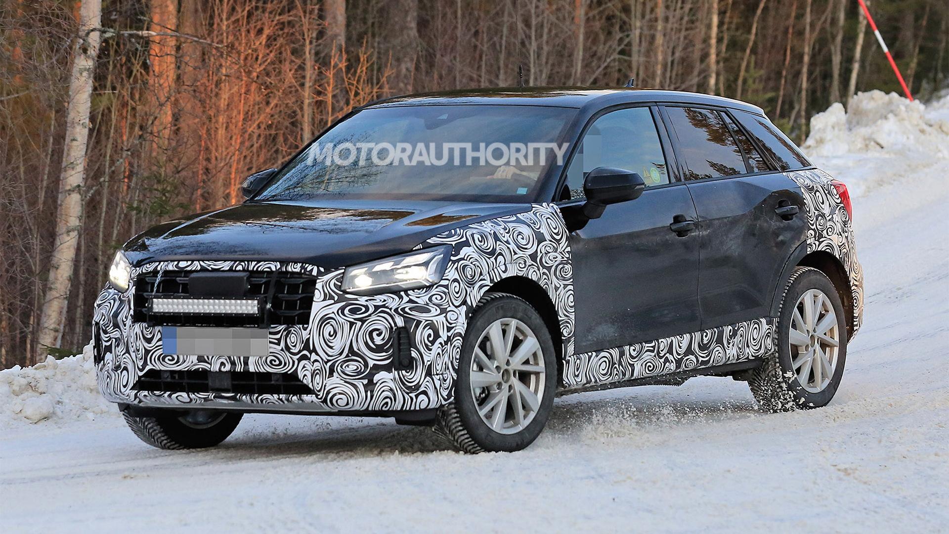 2020 Audi Q2 facelift spy shots - Photo credit: S. Baldauf/SB-Medien