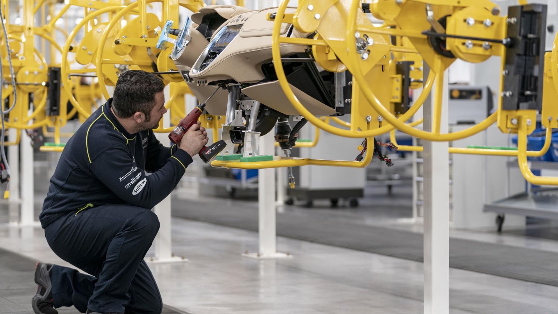 Aston Martin DBX production at plant in St Athan, Wales