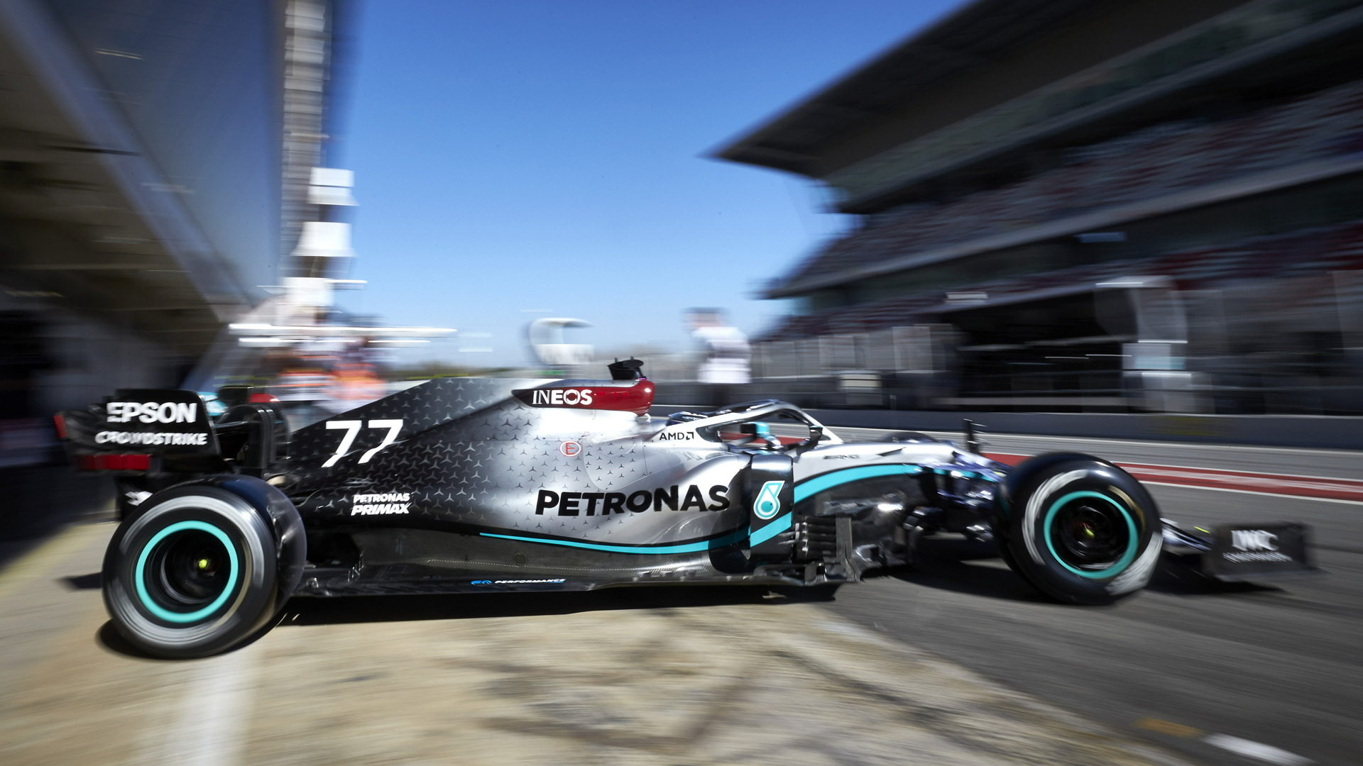 Mercedes-AMG during testing for the 2020 Formula One World Championship