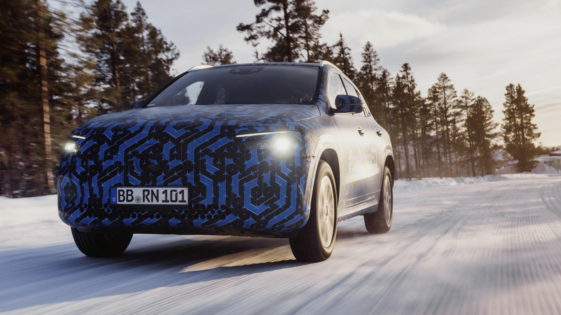 Teaser for Mercedes-Benz EQA debuting in 2020