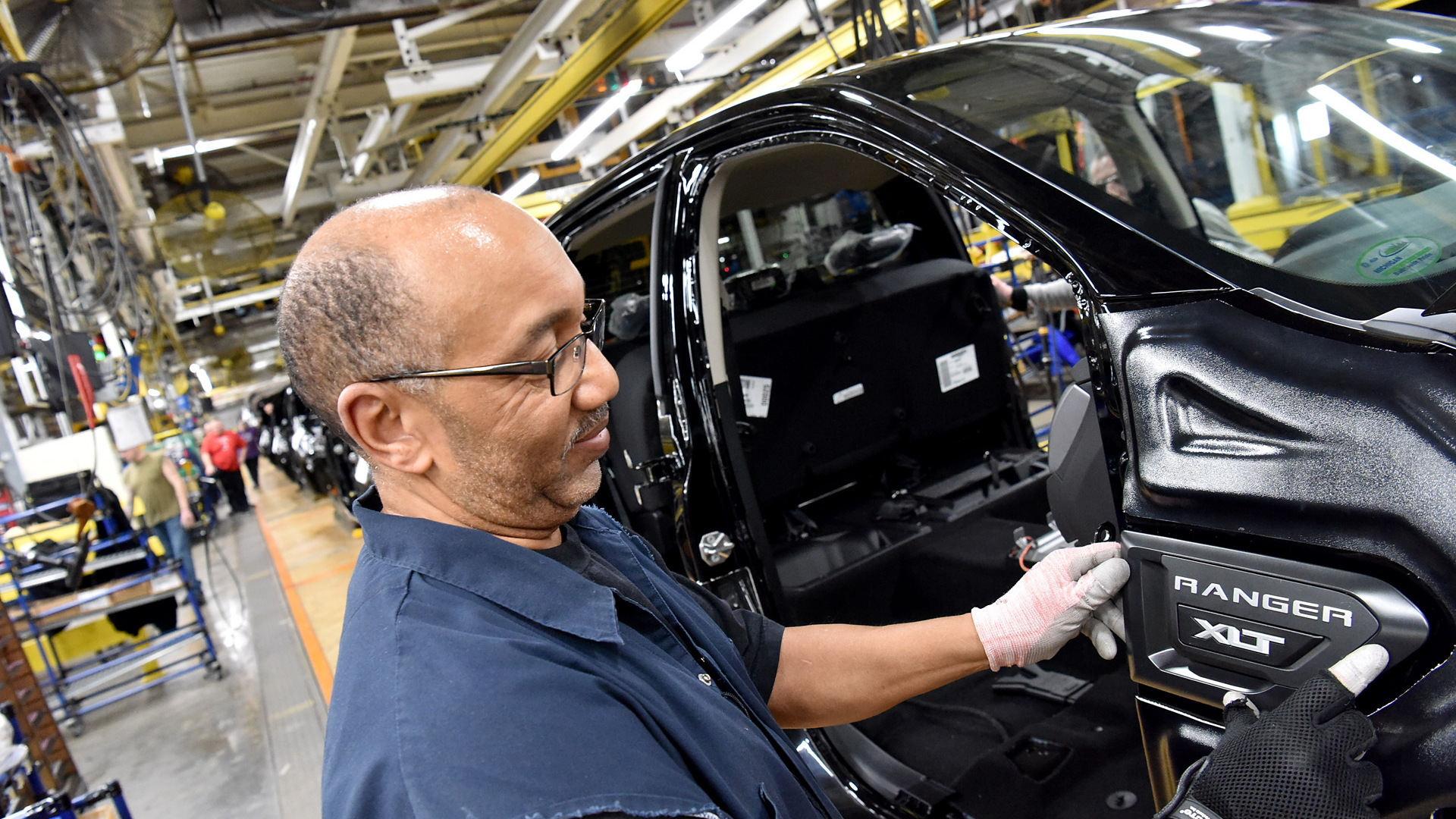 Production at Ford's Michigan Assembly Plant in Wayne, Michigan