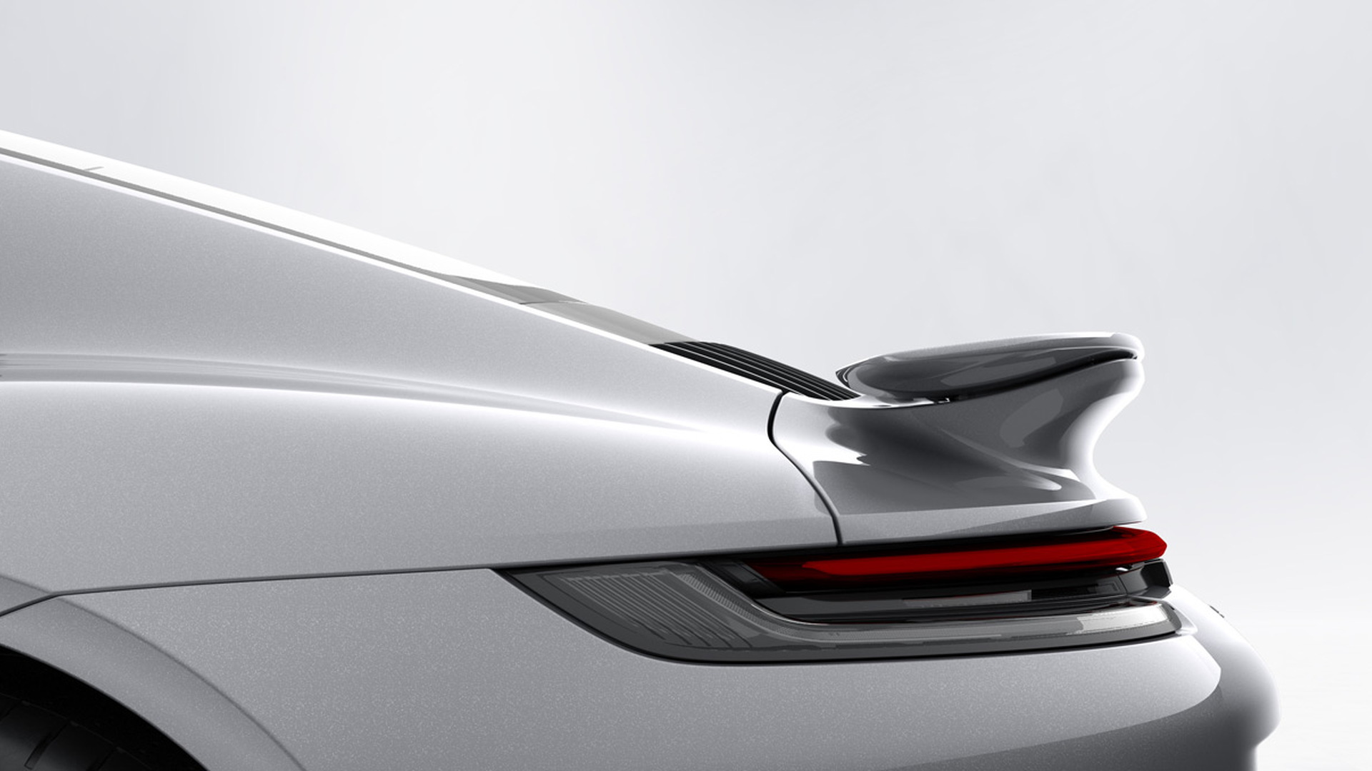 992-generation Porsche 911 Turbo S active rear wing