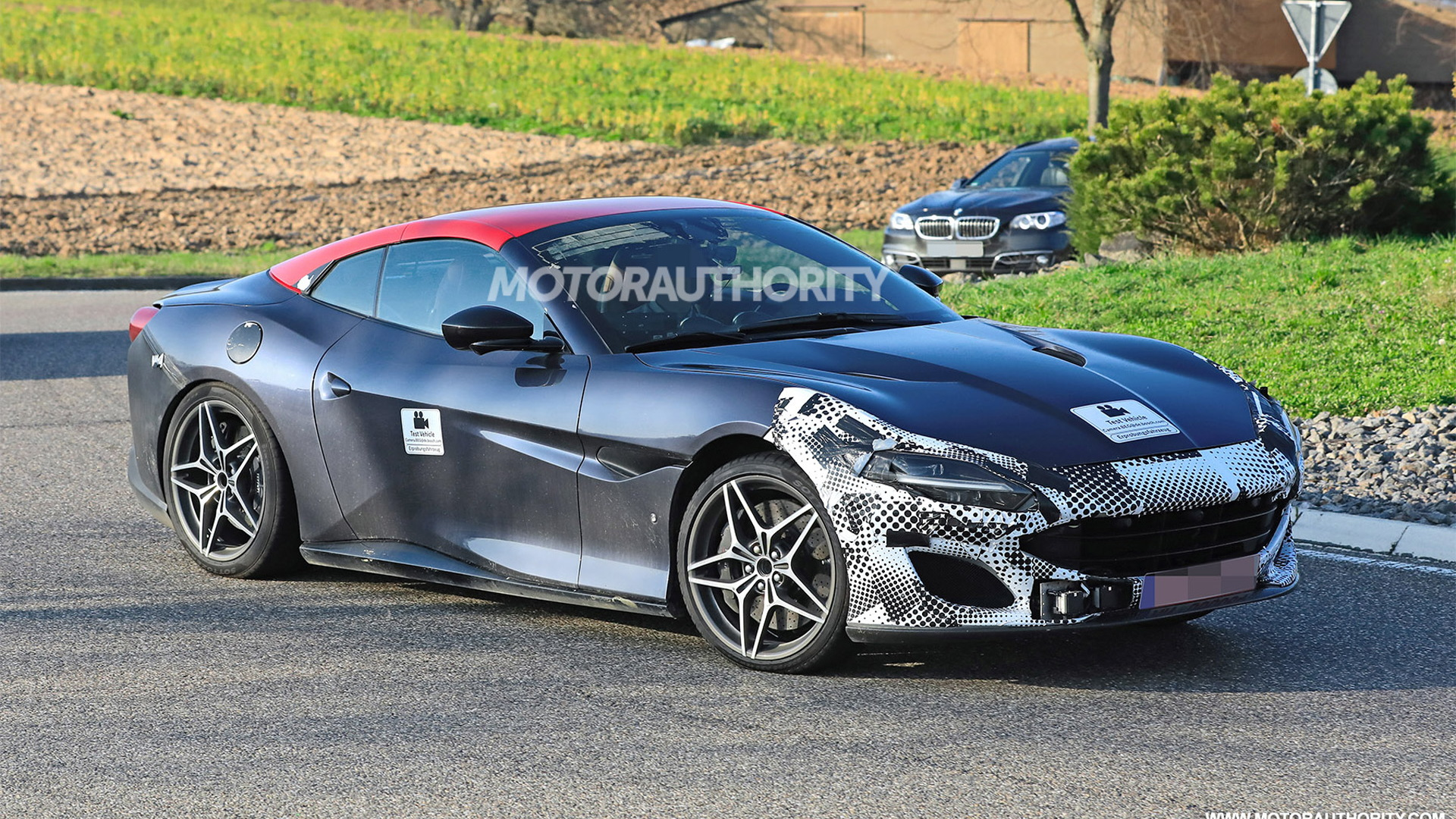 2021 Ferrari Portofino facelift spy shots - Photo credit: S. Baldauf/SB-Medien