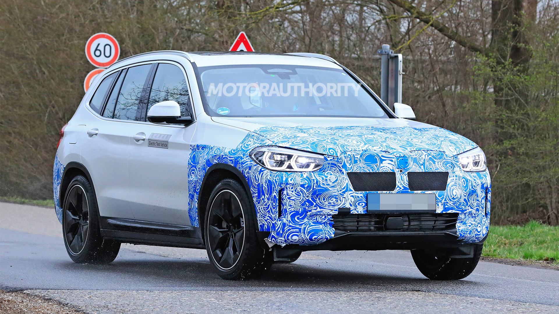 2021 BMW iX3 spy shots - Photo credit:S. Baldauf/SB-Medien