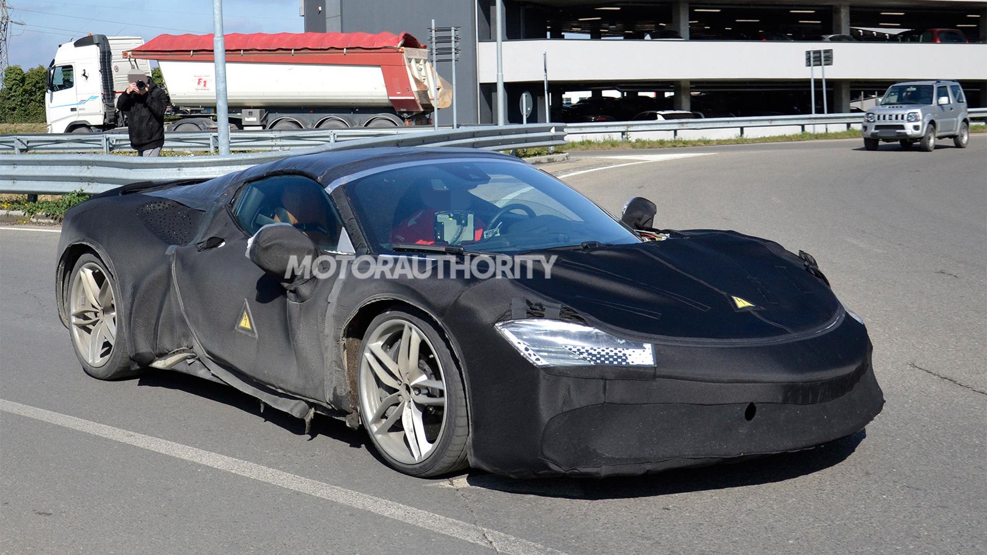 Ferrari SF90 Stradale Spider spy shots - Photo credit:S. Baldauf/SB-Medien