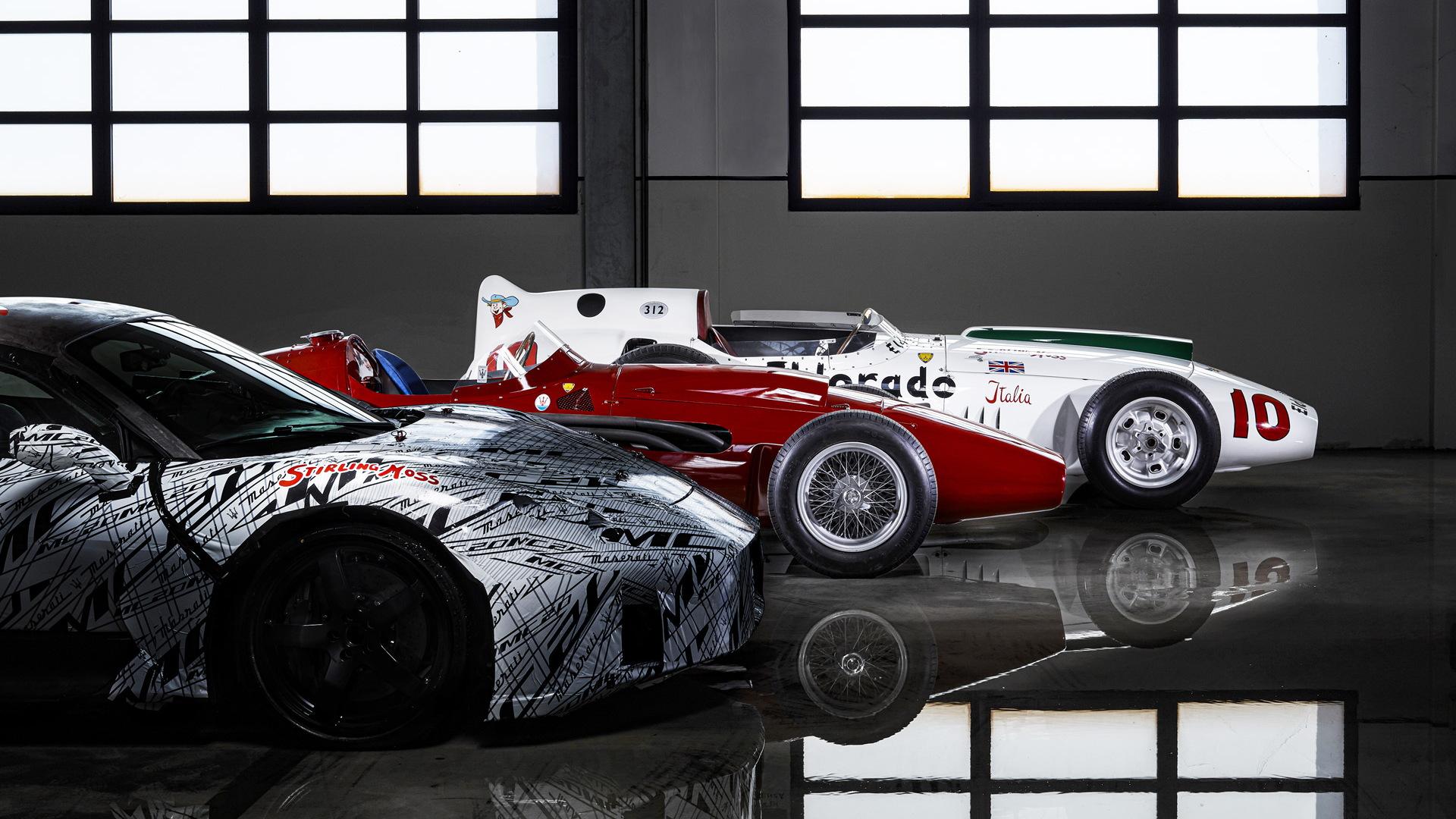 Teaser for Maserati MC20 debuting in September 2020