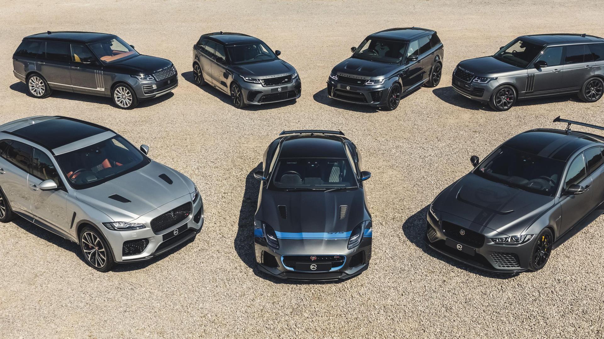 Jaguar Land Rover SVO lineup