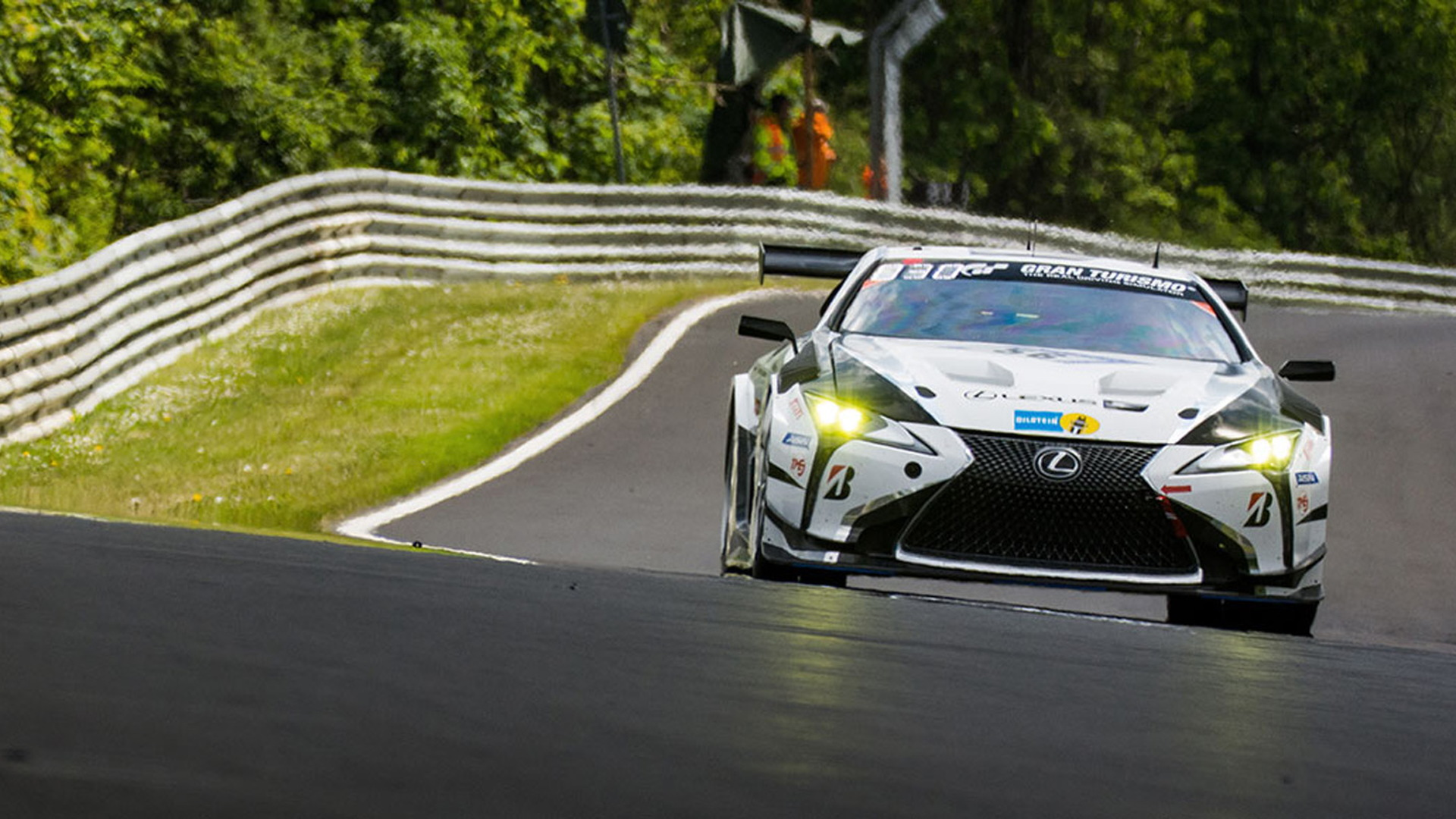 Toyota Gazoo Lexus LC race car in the 2019 24 Hours of Nürburgring
