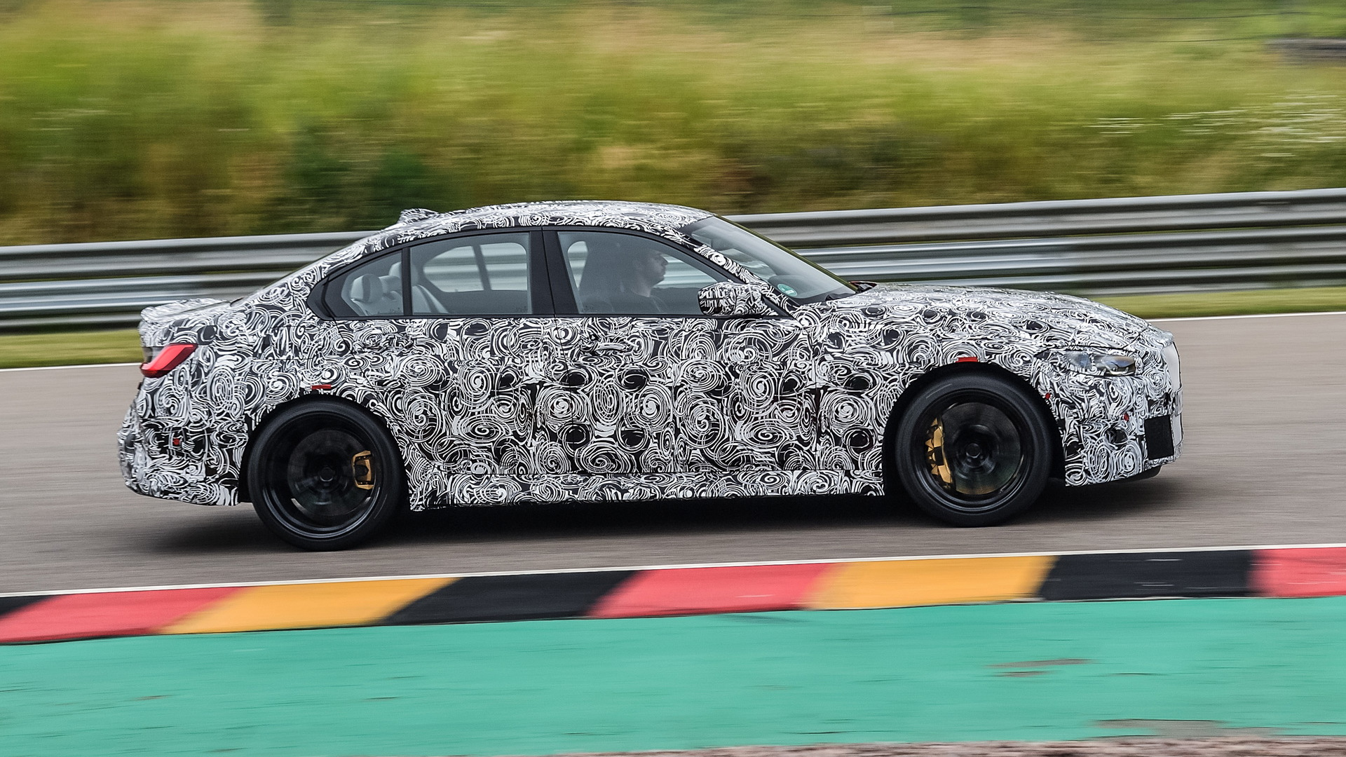 Teaser for BMW M3 debuting in September 2020