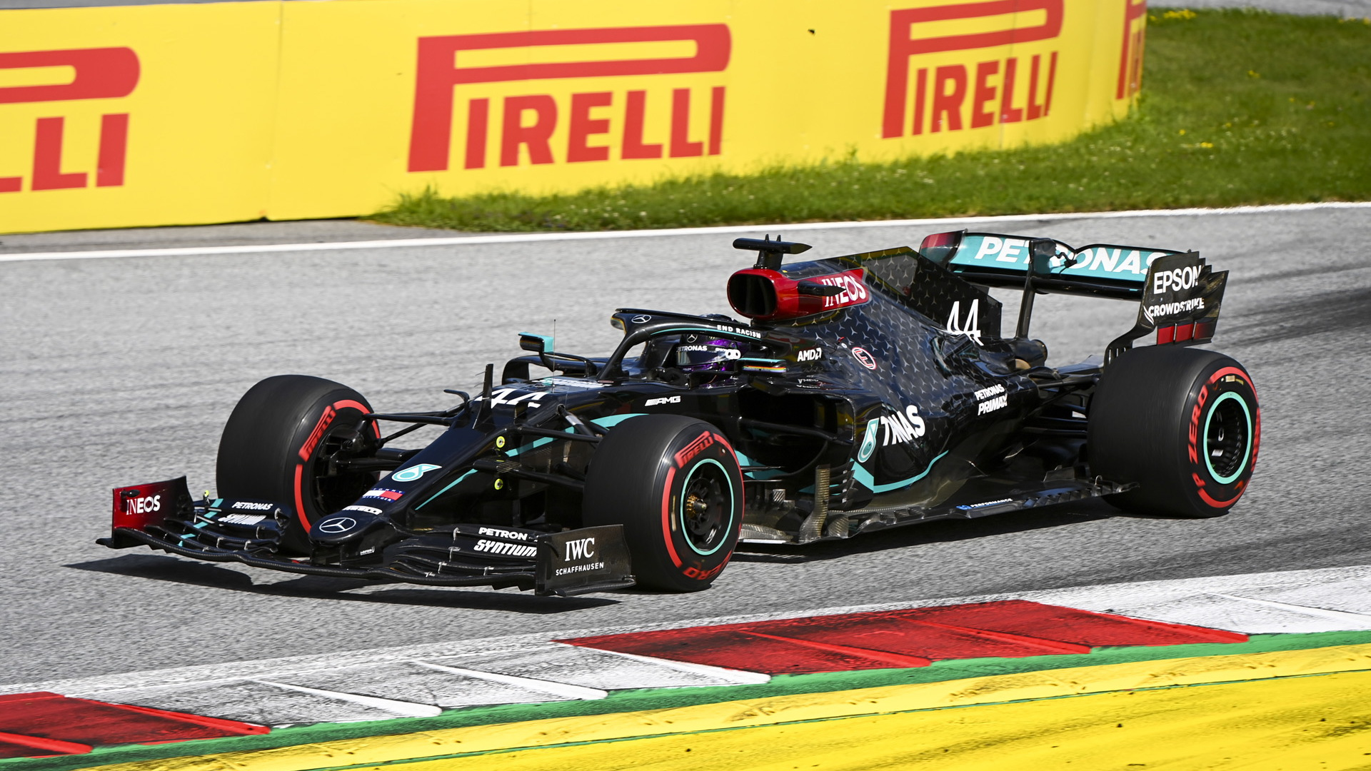 Mercedes-AMG's Lewis Hamilton at the 2020 Formula One Styrian Grand Prix
