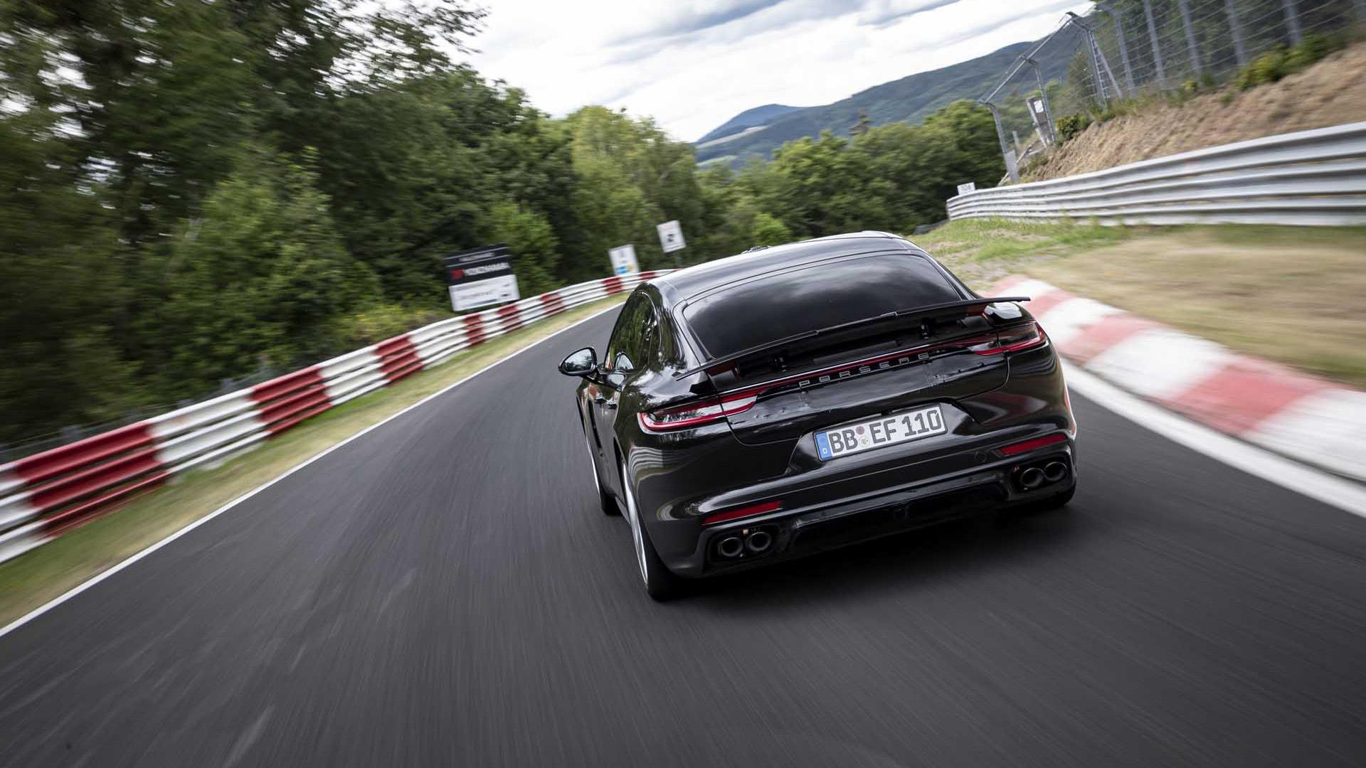 Porsche tester Lars Kern took the 2021 Panamera around the Nürburgring in 7:29.81 - August 2020