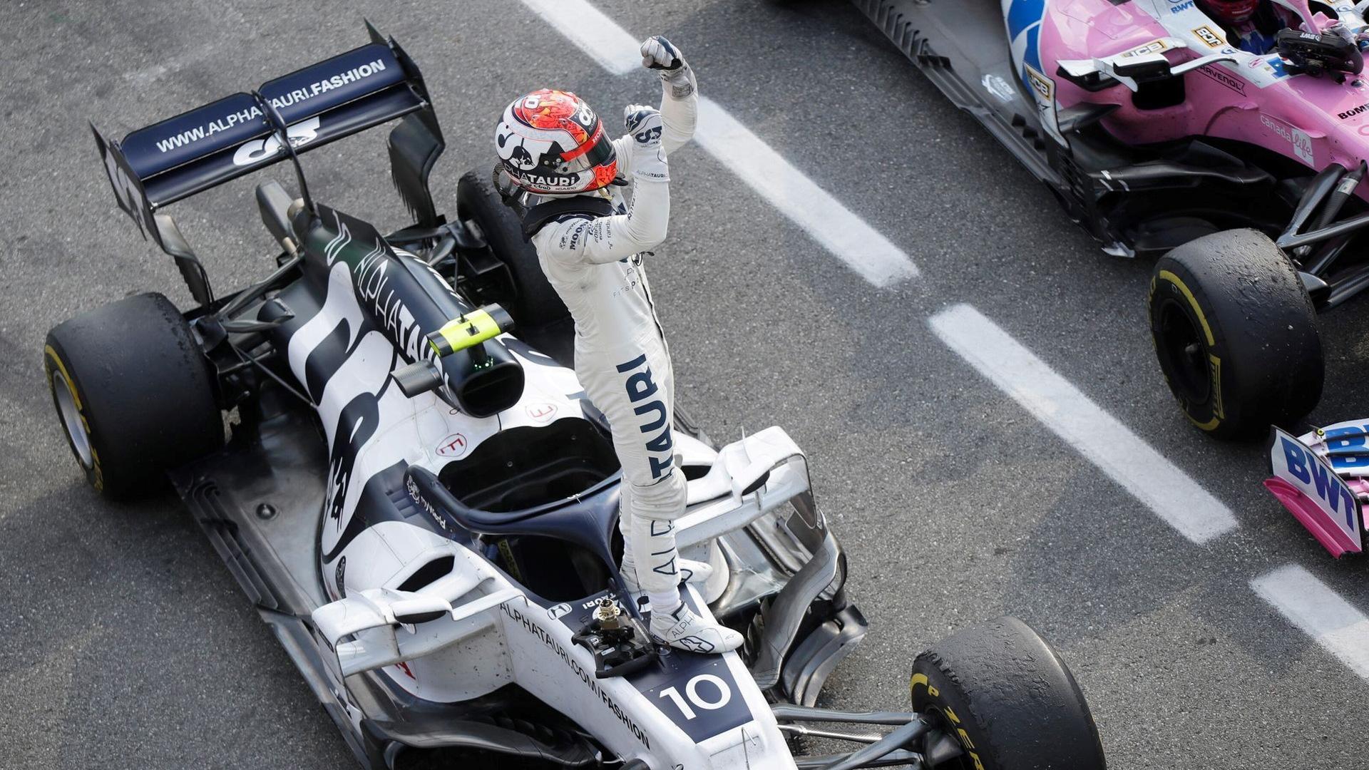AlphaTauri's Pierre Gasly at the 2020 Formula One Italian Grand Prix