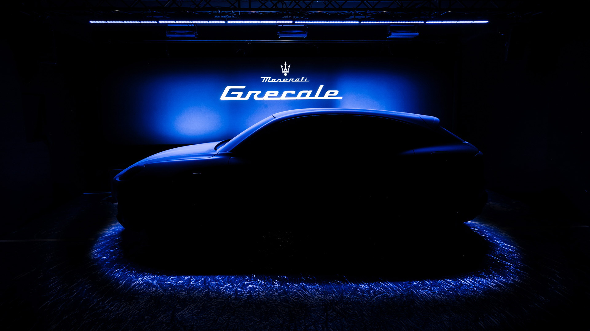 Teaser for Maserati Grecale debuting in 2021