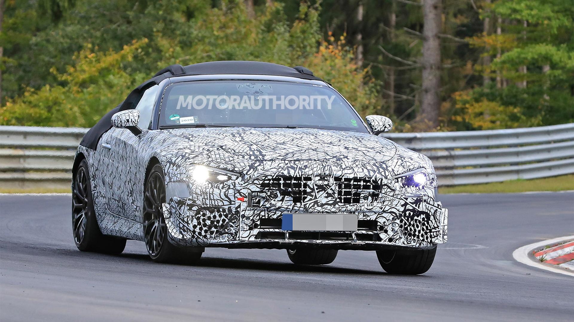 2022 Mercedes-AMG SL63 Roadster spy shots - Photo credit: S. Baldauf / SB-Medien