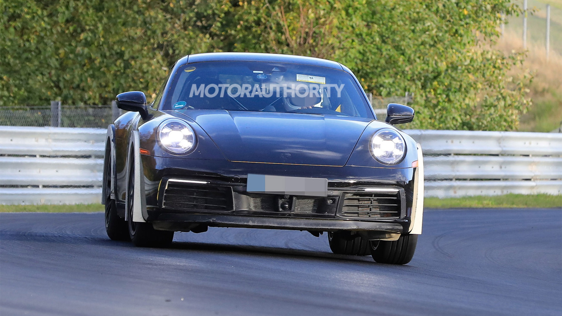 High-riding Porsche 911 prototype spy shots - Photo credit:S. Baldauf/SB-Medien
