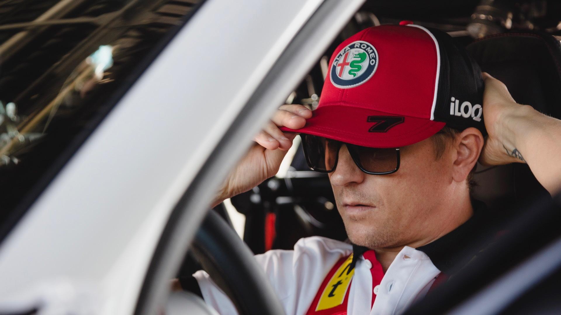 Kimi Raikkonen drives a 2020 Alfa Romeo Giulia GTA prototype