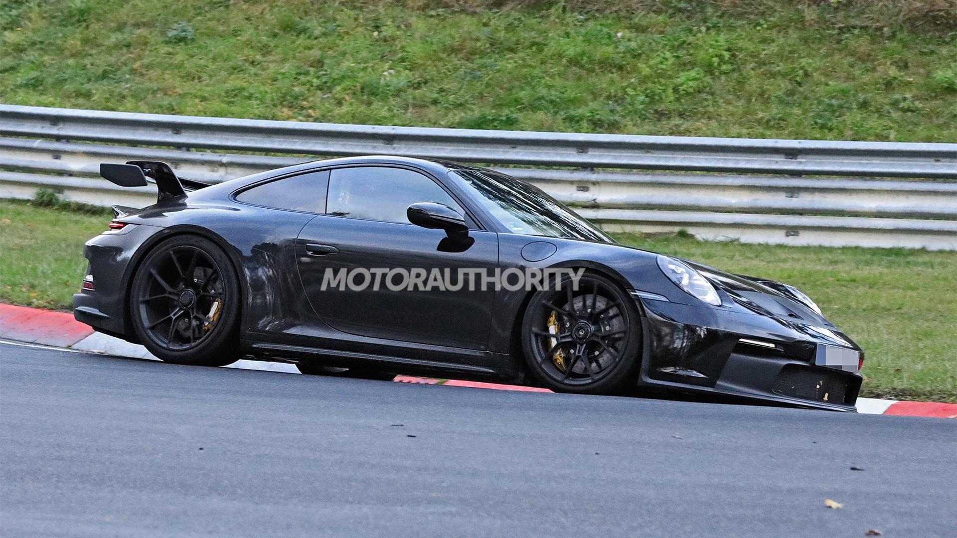 2021 Porsche 911 GT3 spy shots - Photo credit:S. Baldauf/SB-Medien