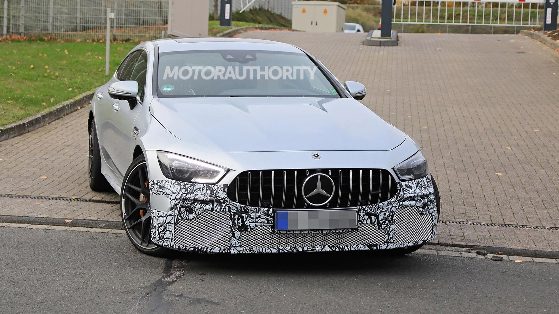 2022 Mercedes-AMG GT 4-Door Coupe facelift spy shots - Photo credit:S. Baldauf/SB-Medien