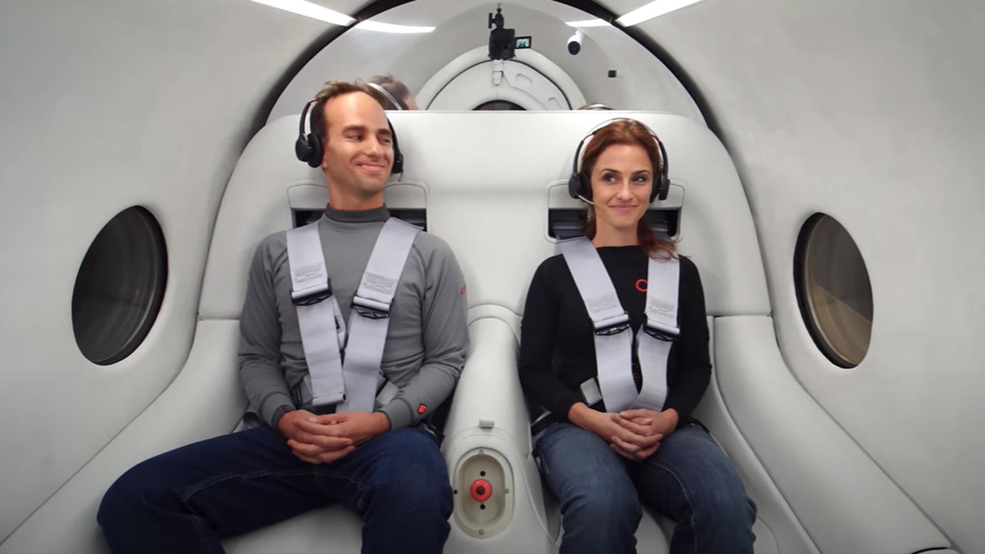 Josh Giegel and Sara Luchian are first passengers to test Virgin Hyperloop - November 8, 2020