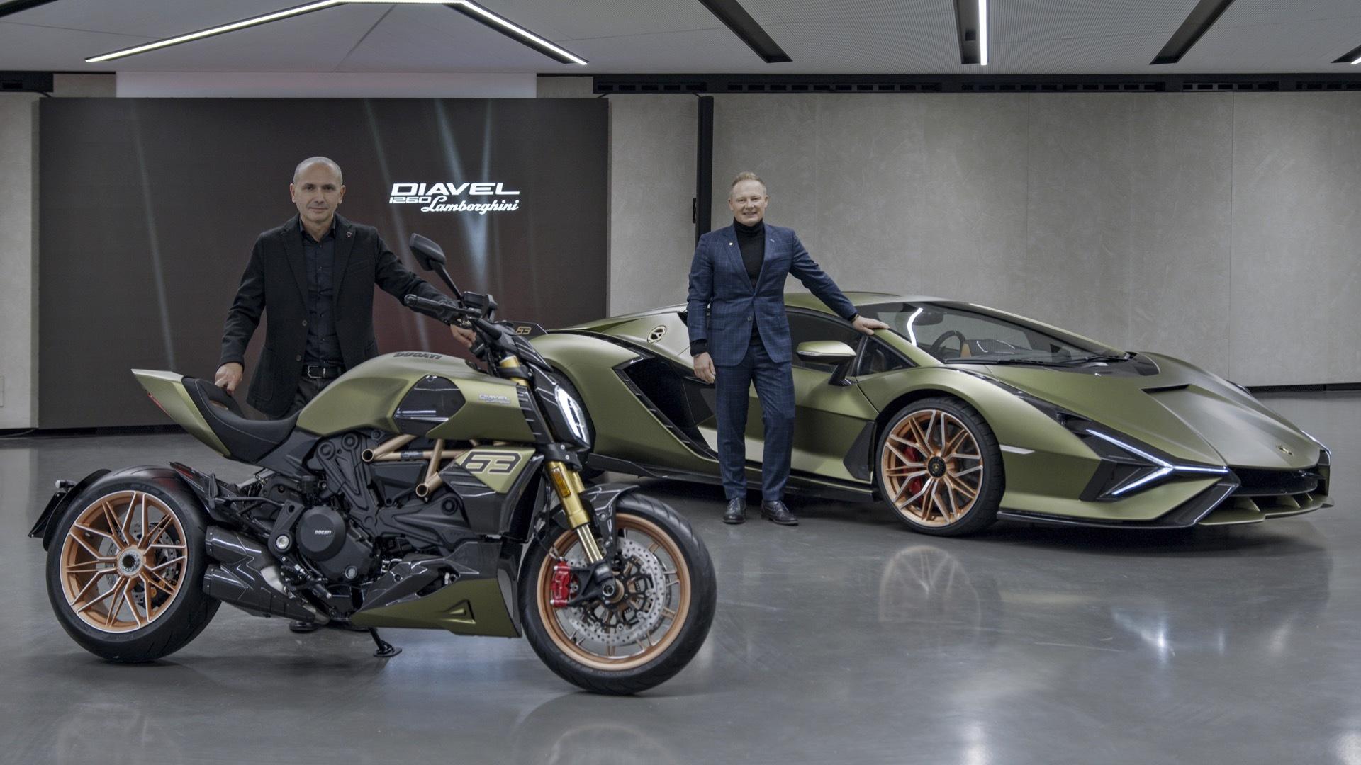 Centro Stile Ducati director Andrea Ferrariesi and Lamborghini design boss Mitja Borkert