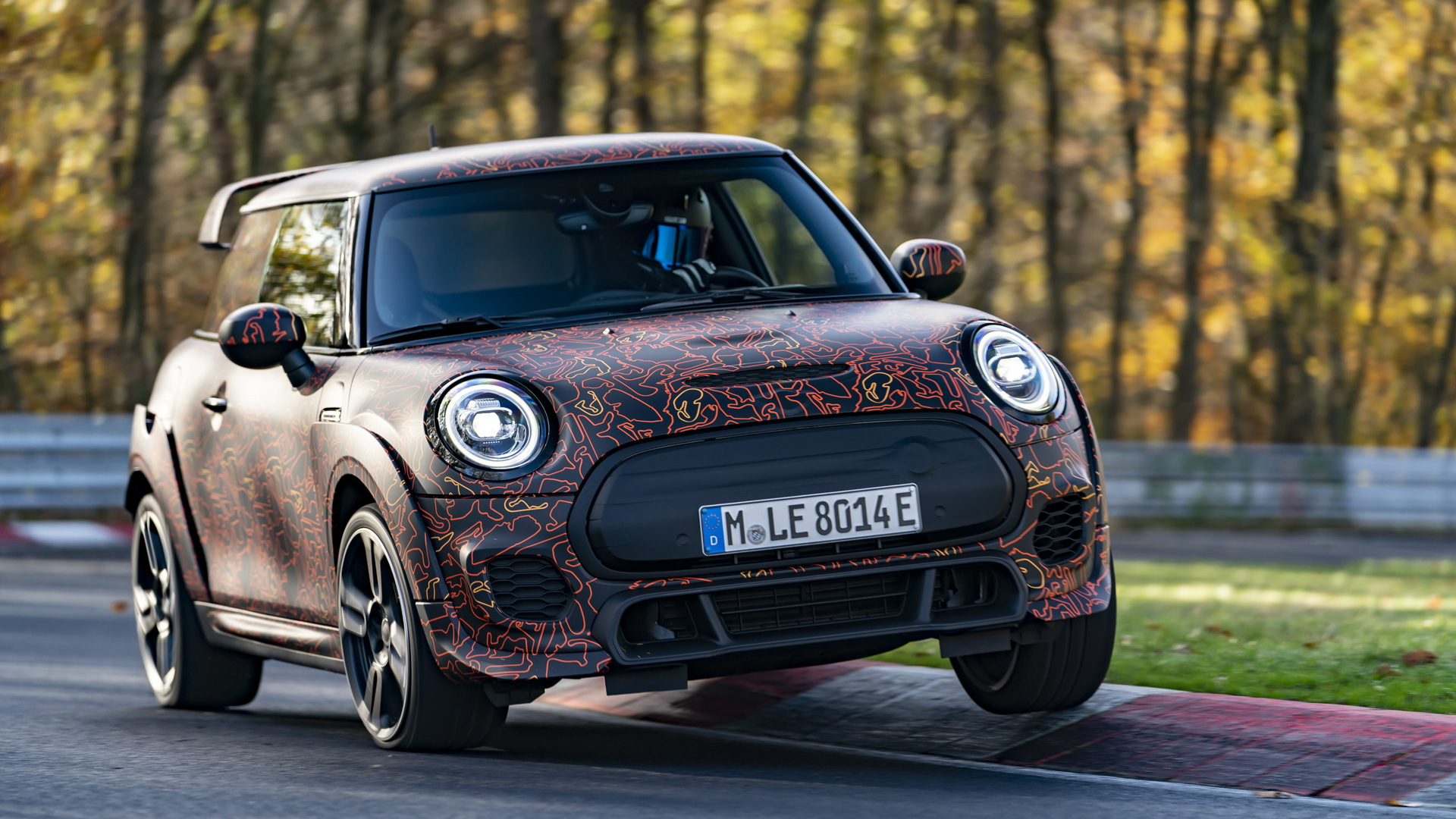 Test mule for electric Mini John Cooper Works model