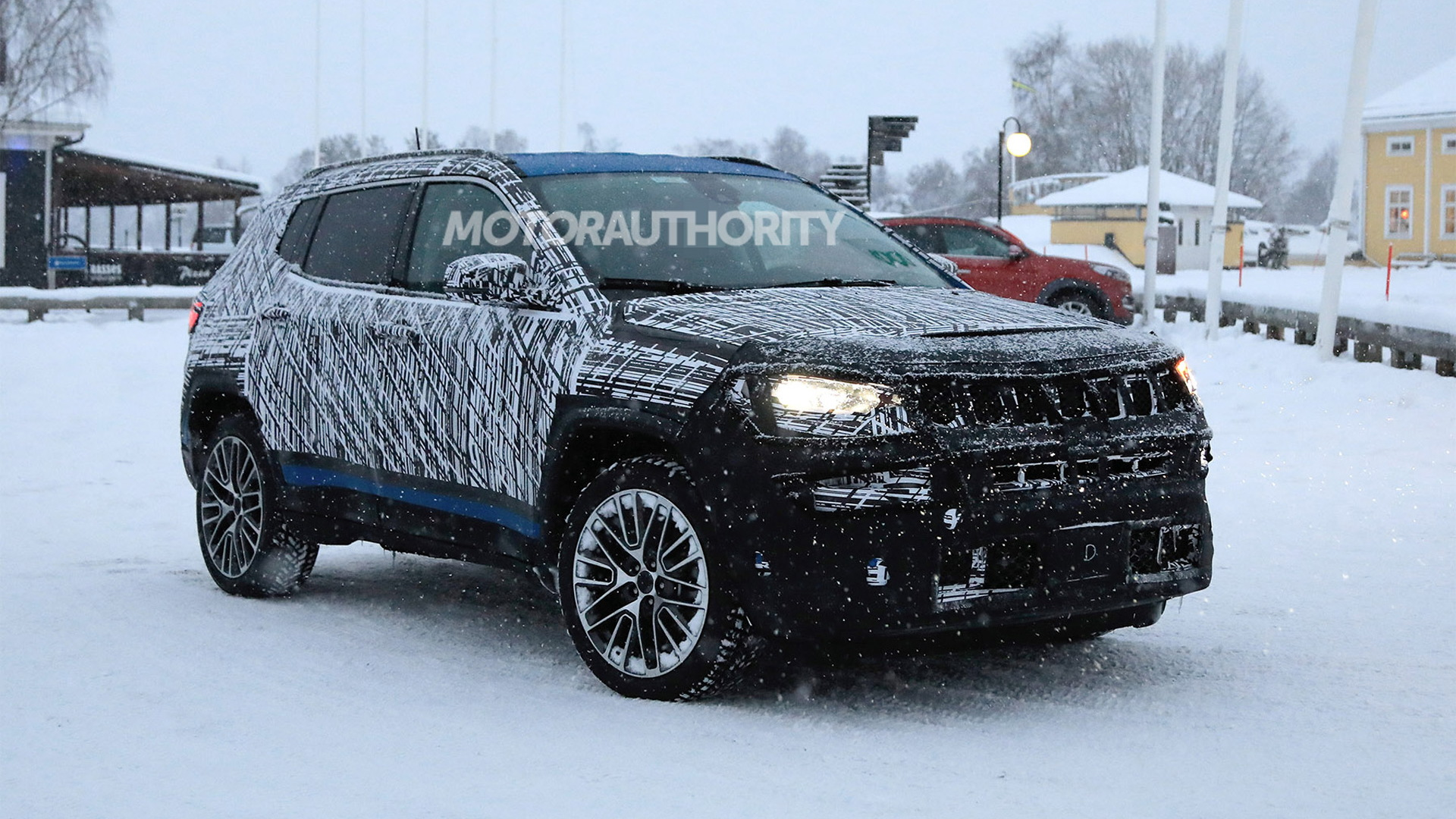 2022 Jeep Compass facelift spy shots - Photo credit:S. Baldauf/SB-Medien