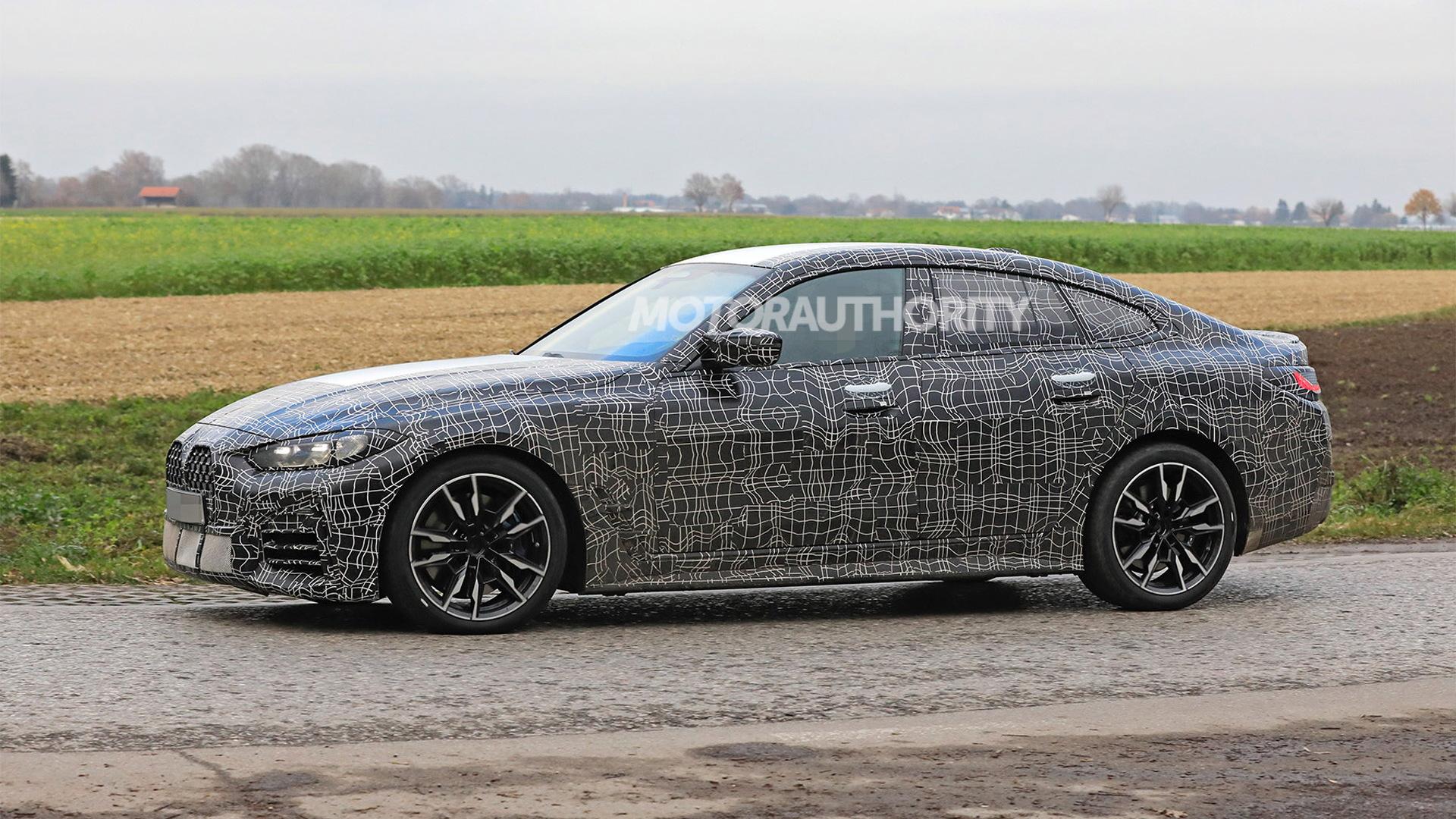 2022 BMW 4-Series Gran Coupe spy shots - Photo credit:S. Baldauf/SB-Medien