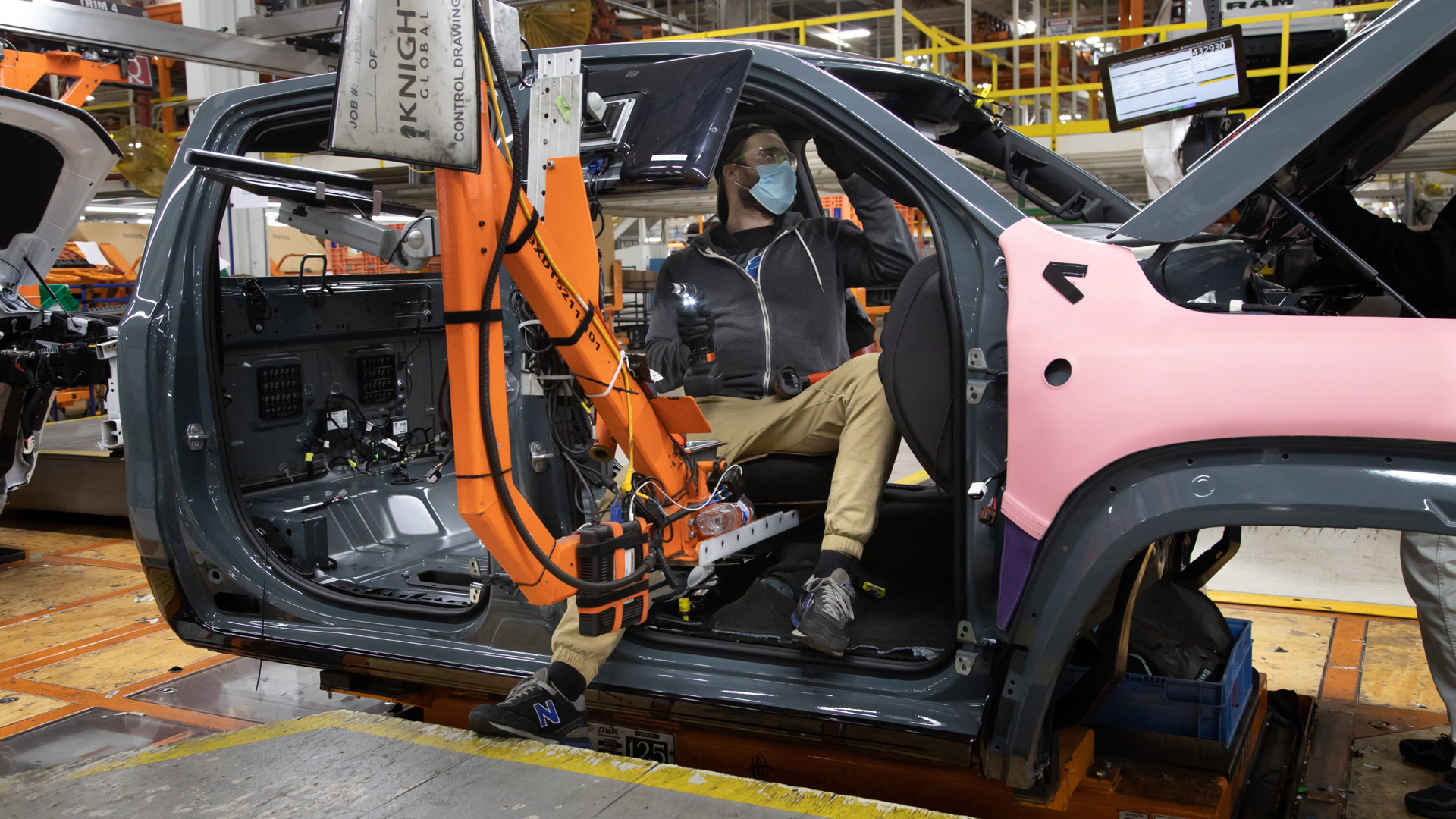 Production of the 2021 Ram 1500 TRX bearing VIN 001 - December 2020